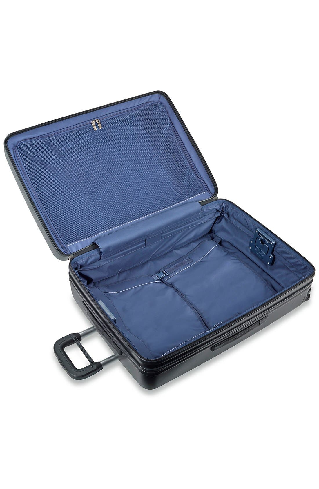 'Sympatico' Expandable Wheeled Packing Case,                             Alternate thumbnail 4, color,                             BLACK