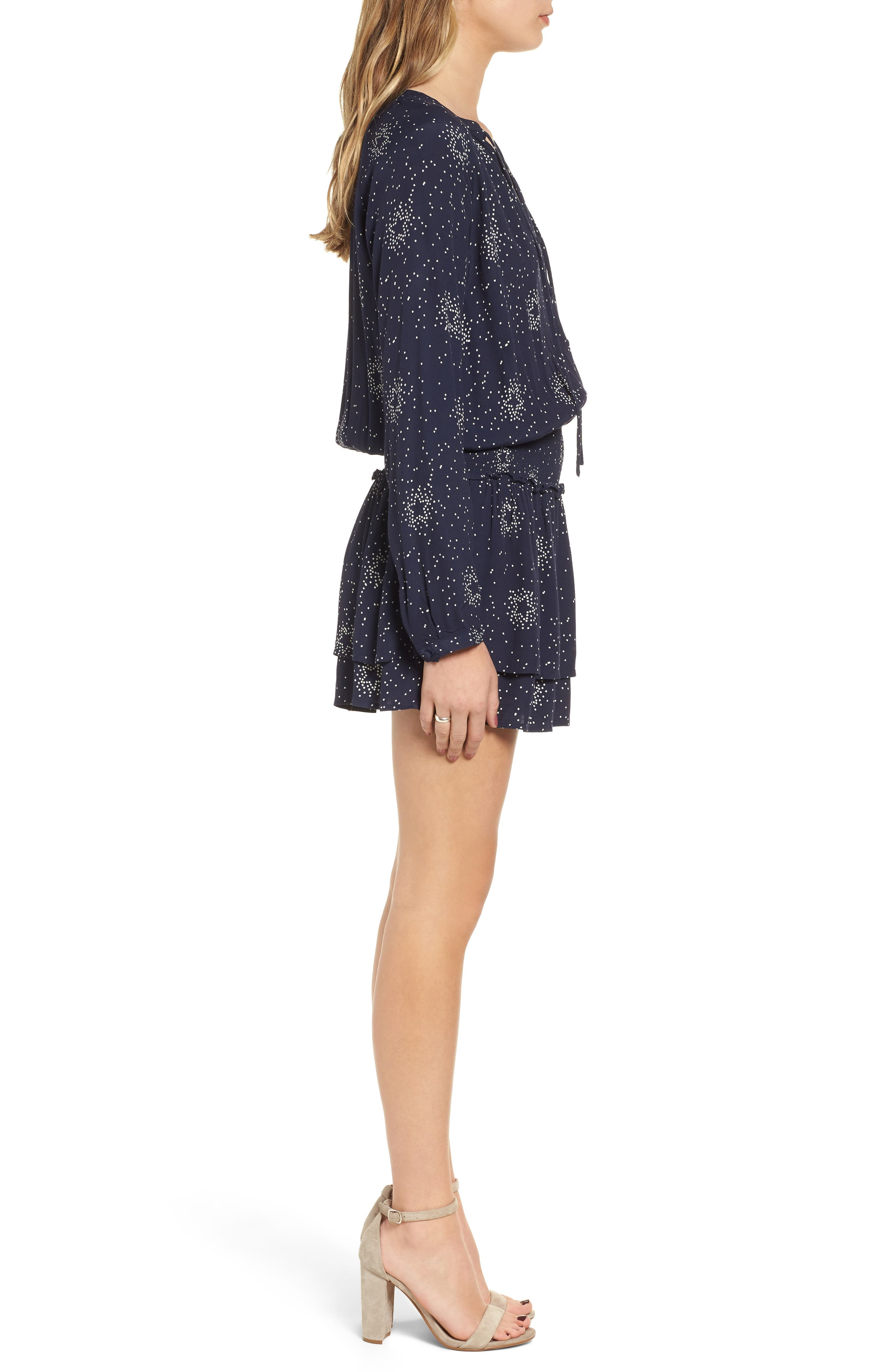 Jasmine Star Print Dress,                             Alternate thumbnail 4, color,                             410