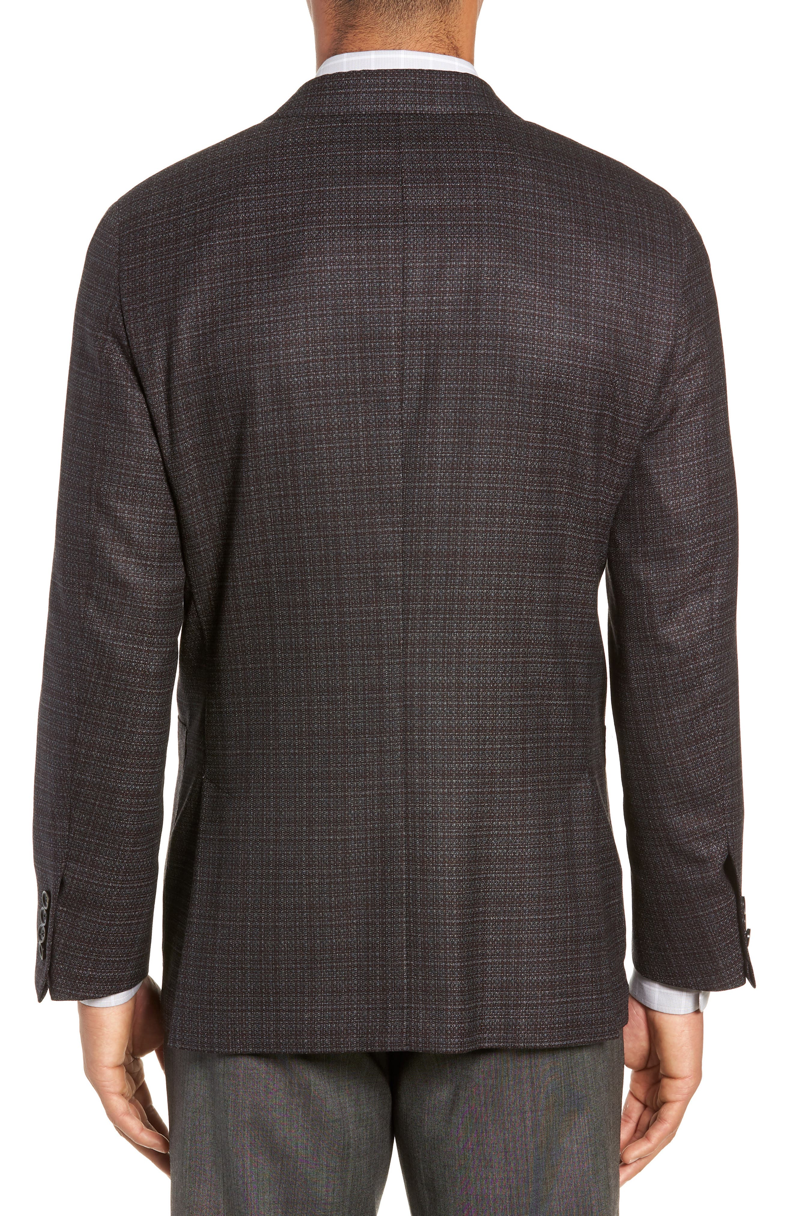 Classic Fit Plaid Wool Sport Coat,                             Alternate thumbnail 2, color,                             GREY
