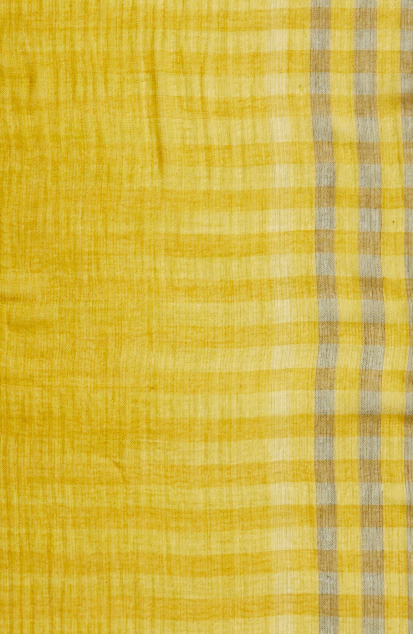 Plaid Wool Scarf,                             Alternate thumbnail 16, color,