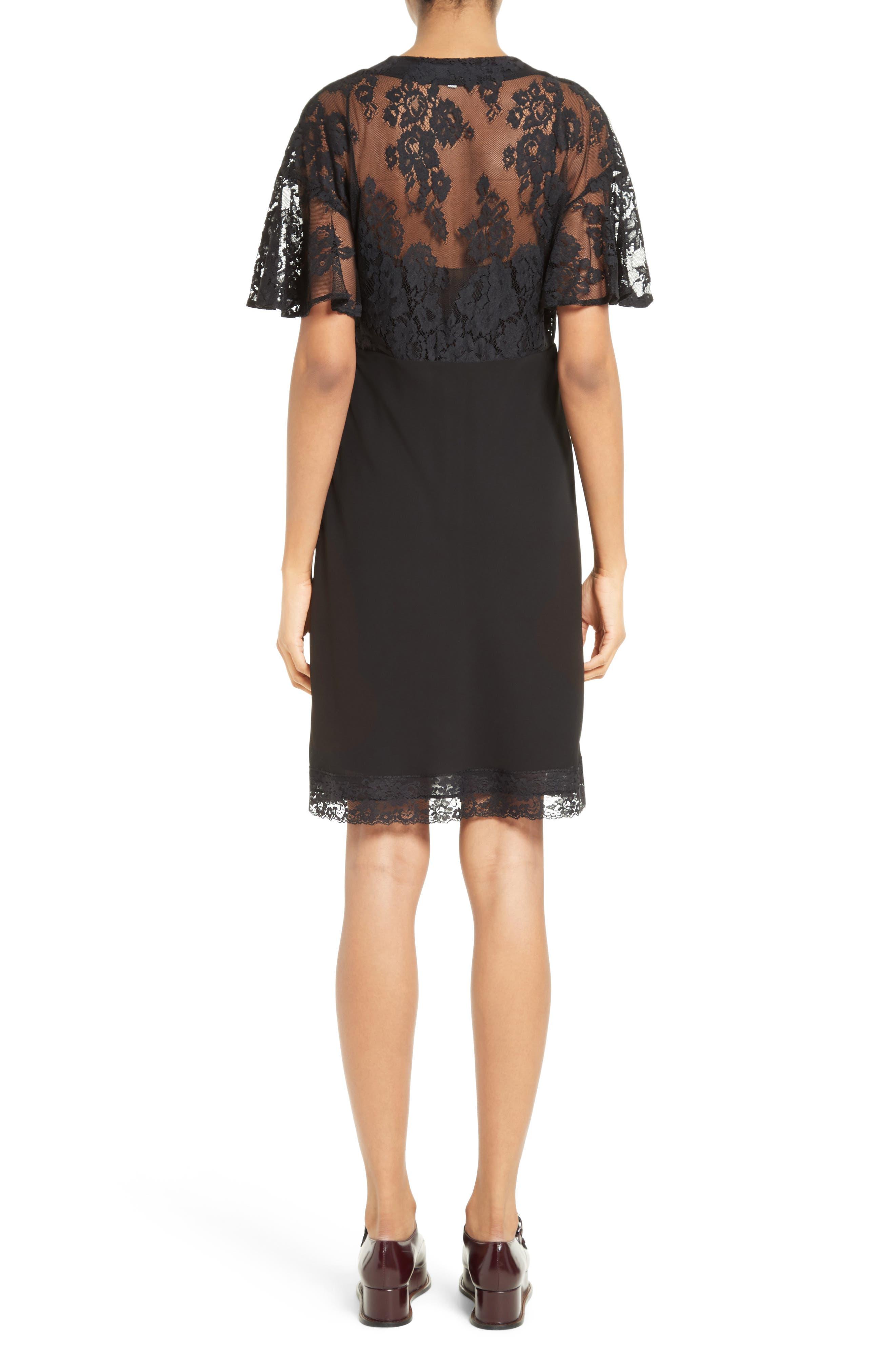 Volant Lace Dress,                             Alternate thumbnail 2, color,                             003
