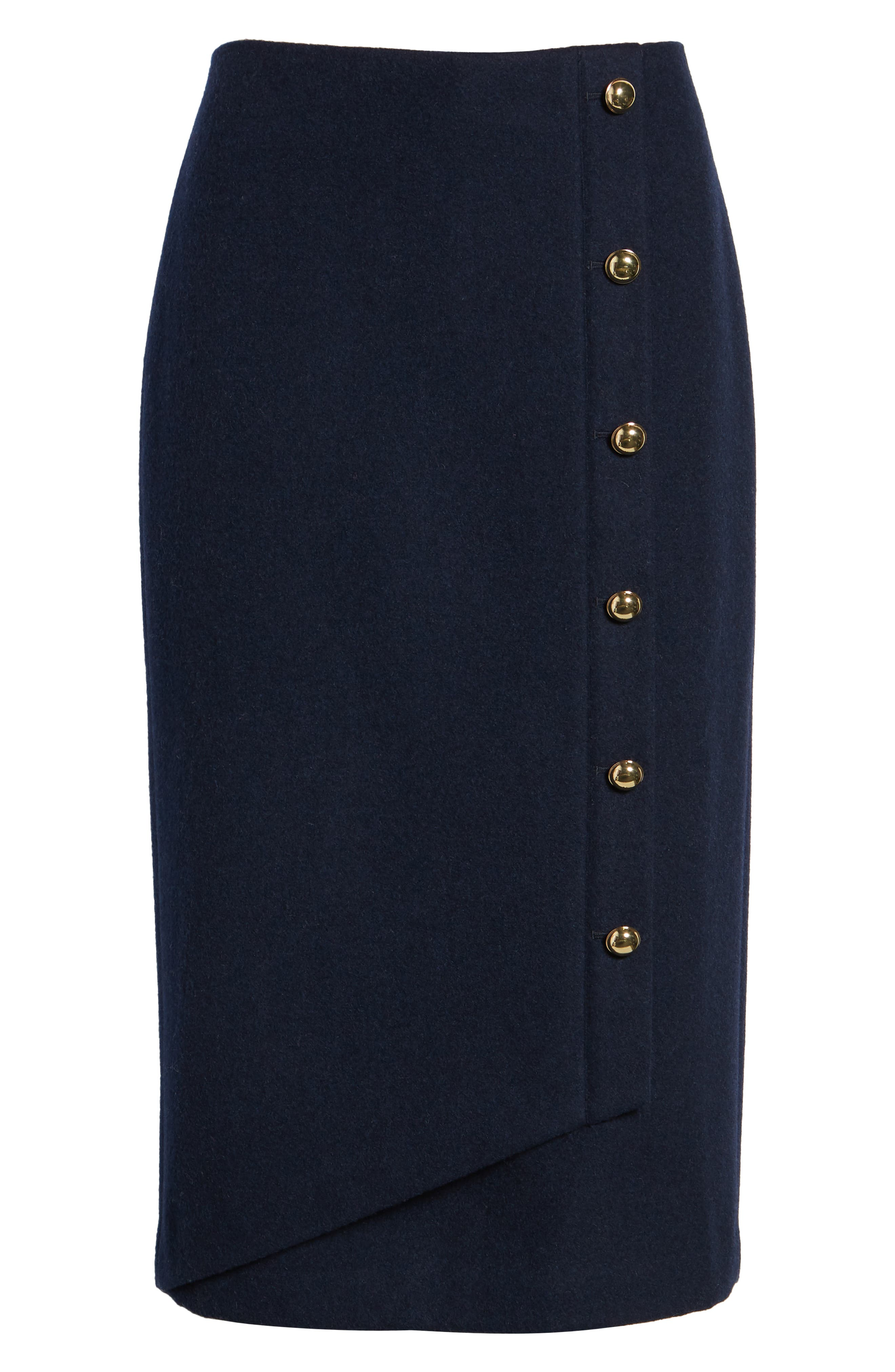 x Atlantic-Pacific Wrap Pencil Skirt,                             Alternate thumbnail 6, color,                             NAVY BLAZER