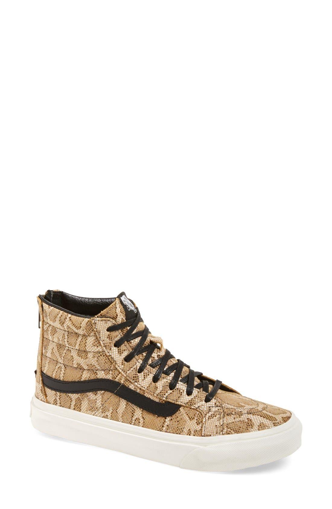 'Sk8-Hi' Zip Sneaker,                             Main thumbnail 1, color,                             200