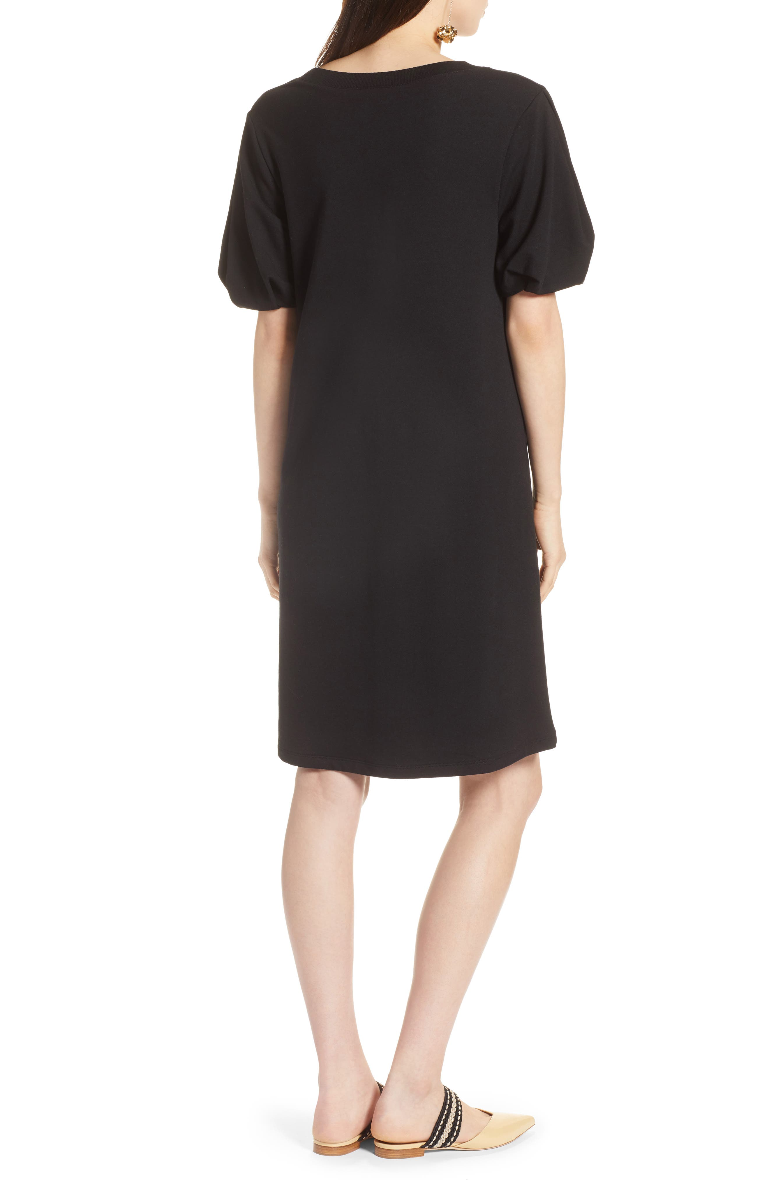 Bubble Sleeve Dress,                             Alternate thumbnail 6, color,