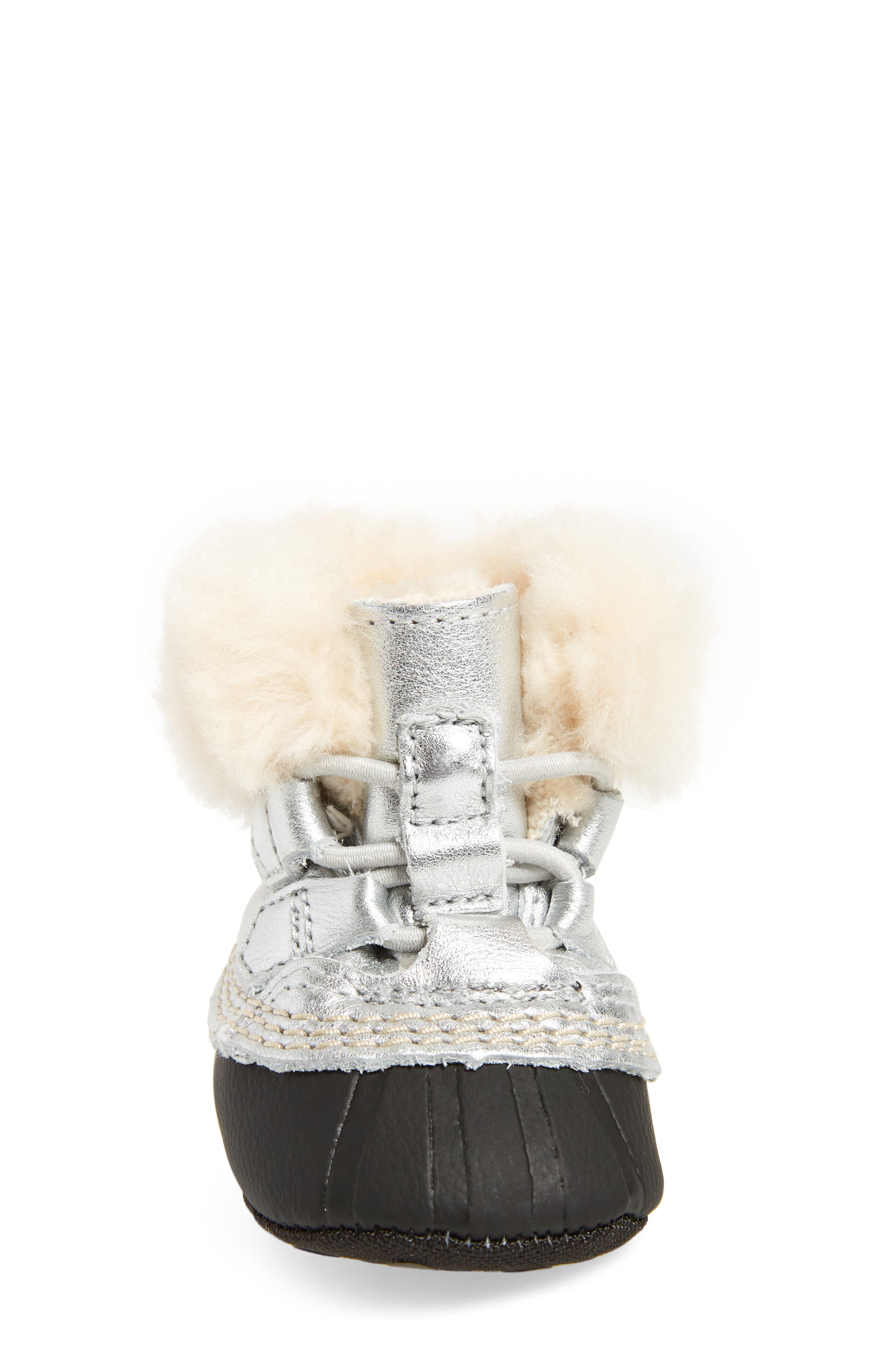 Caribootie Genuine Shearling Crib Shoe,                             Alternate thumbnail 20, color,