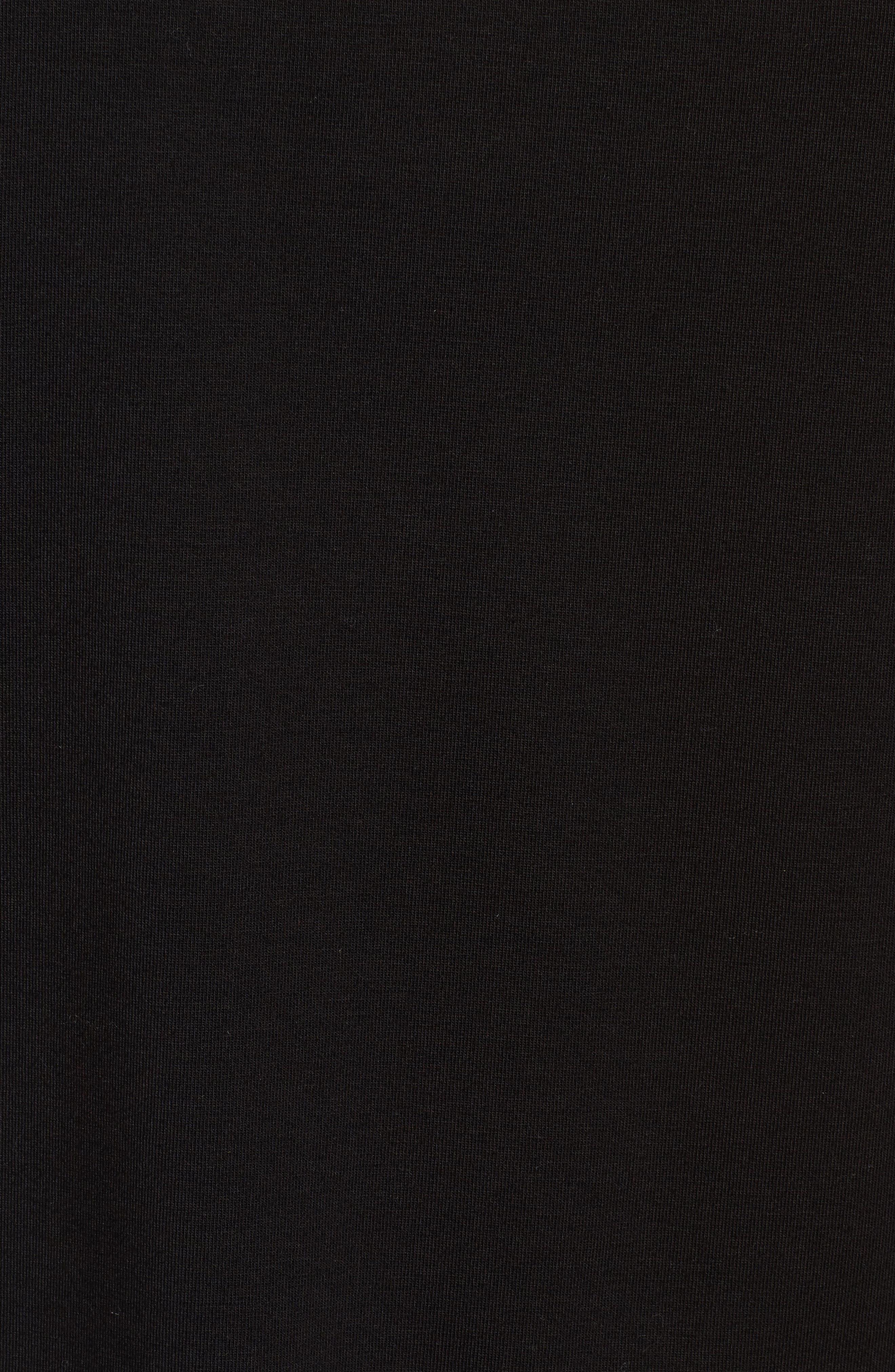 Organic Cotton Stretch Jersey Tank,                             Alternate thumbnail 5, color,                             001