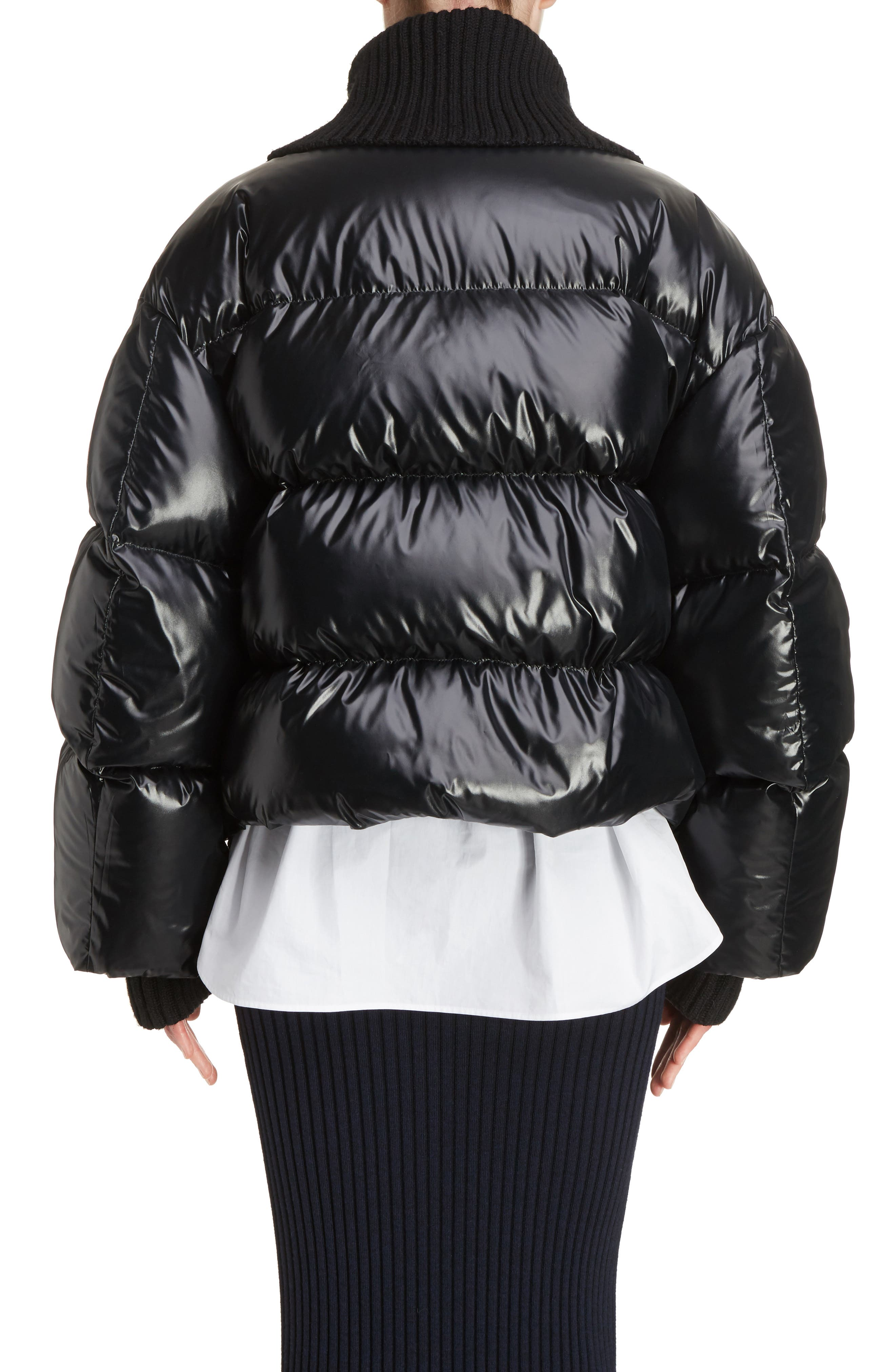 Crop Down Puffer Jacket,                             Alternate thumbnail 2, color,                             001