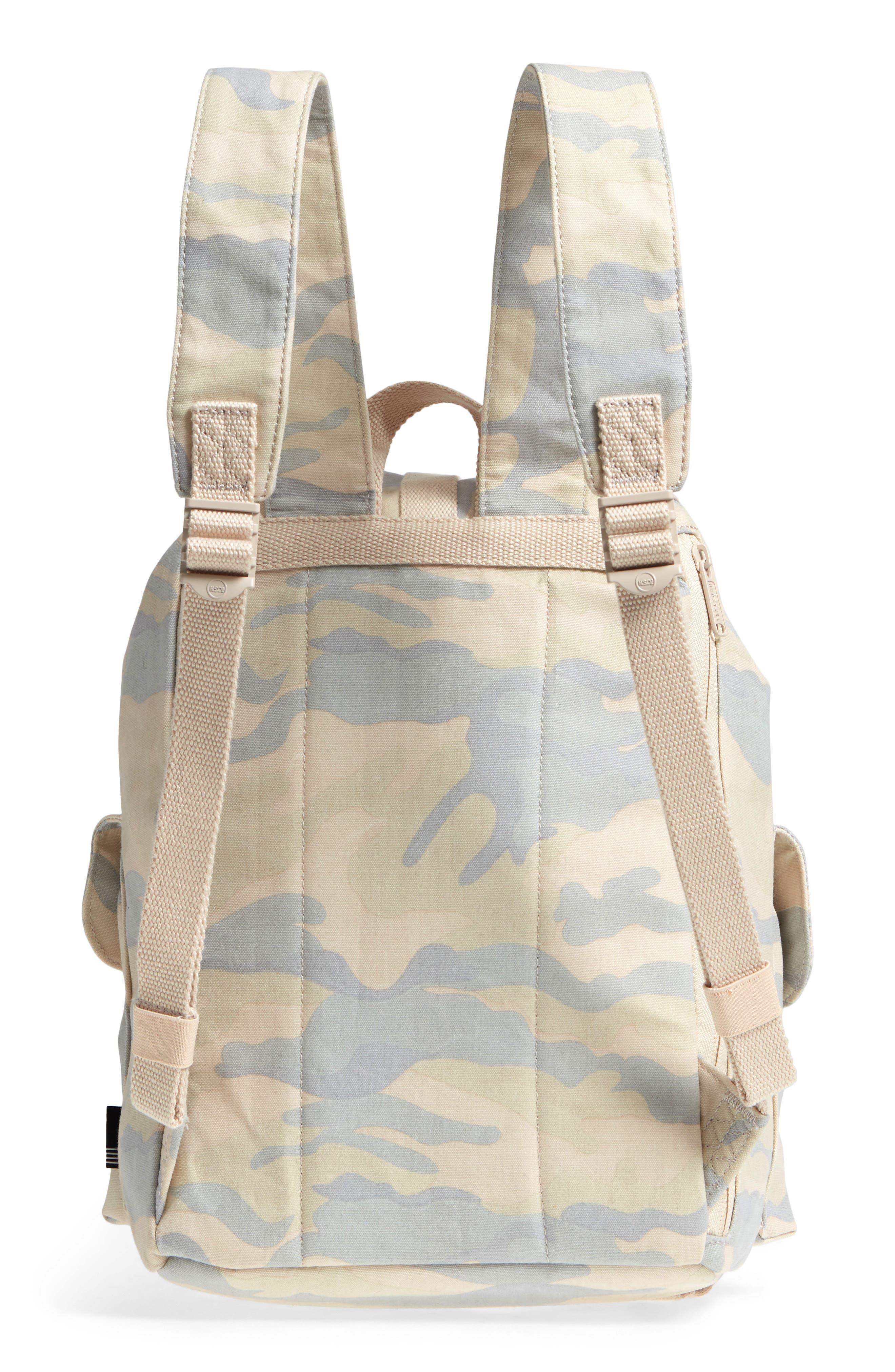 X-Small Dawson Camo Canvas Backpack,                             Alternate thumbnail 3, color,                             900