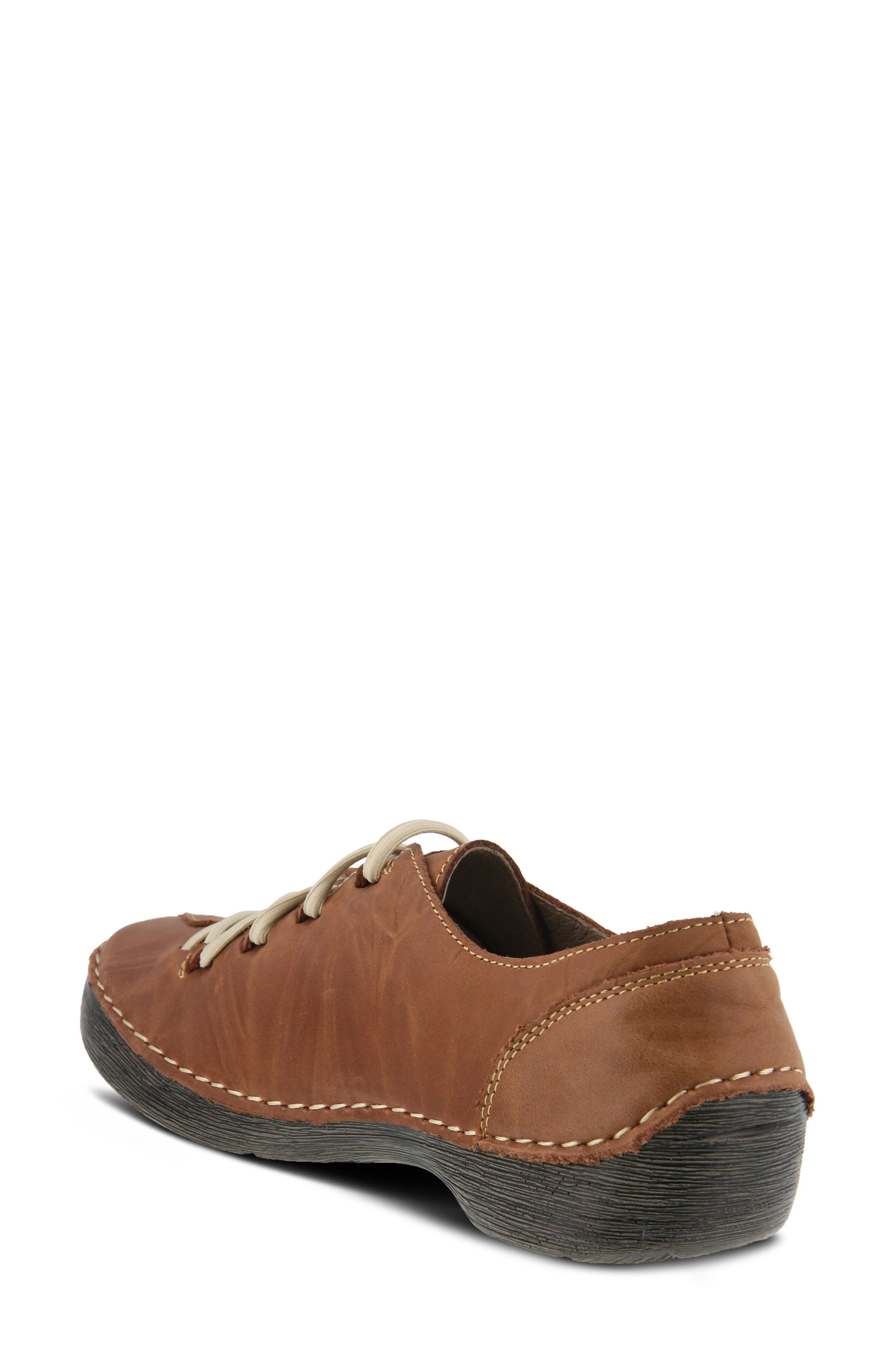 Carhop Sneaker,                             Alternate thumbnail 2, color,                             BROWN LEATHER