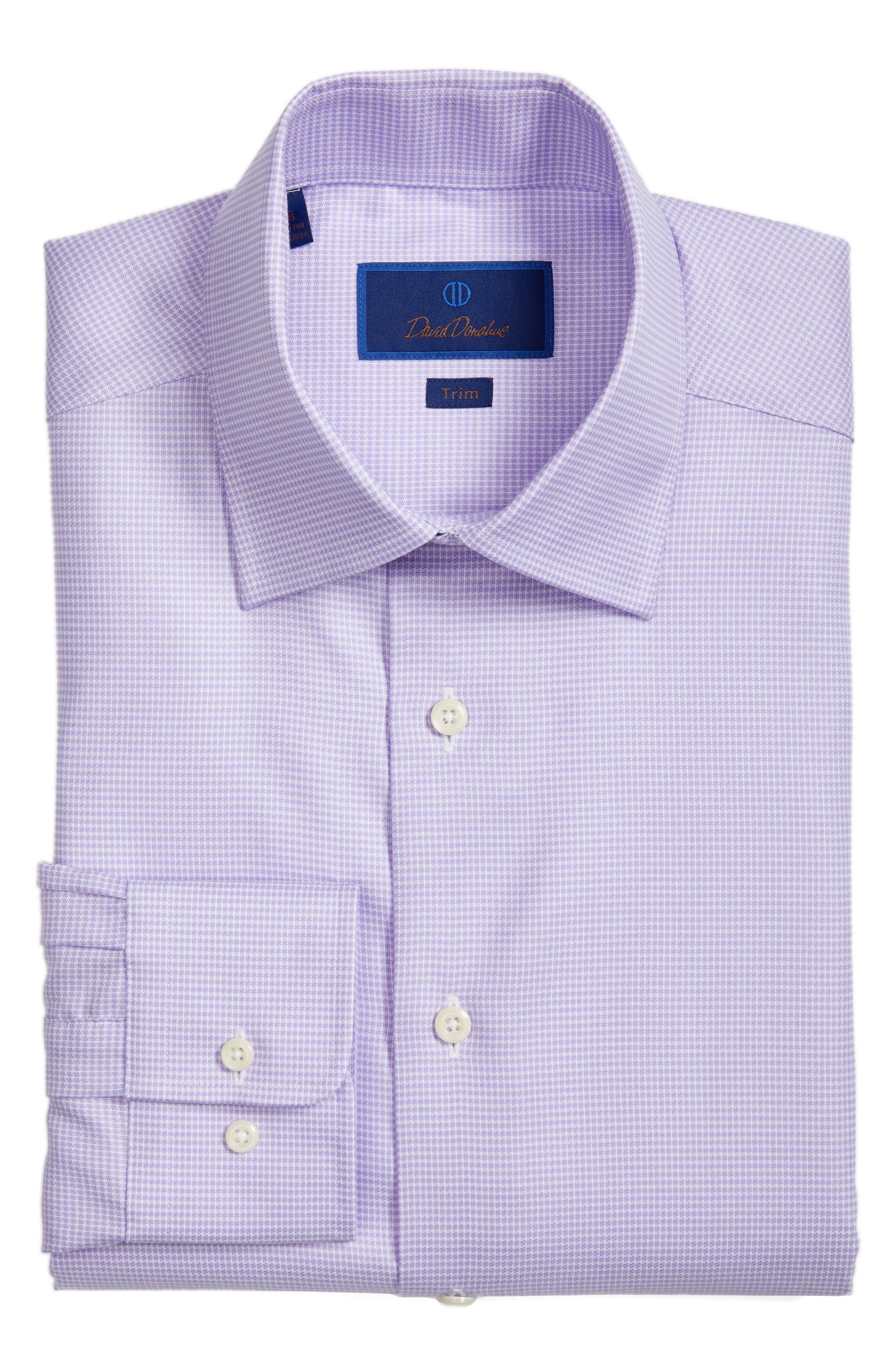 Trim Fit Houndstooth Dress Shirt,                             Alternate thumbnail 3, color,                             534