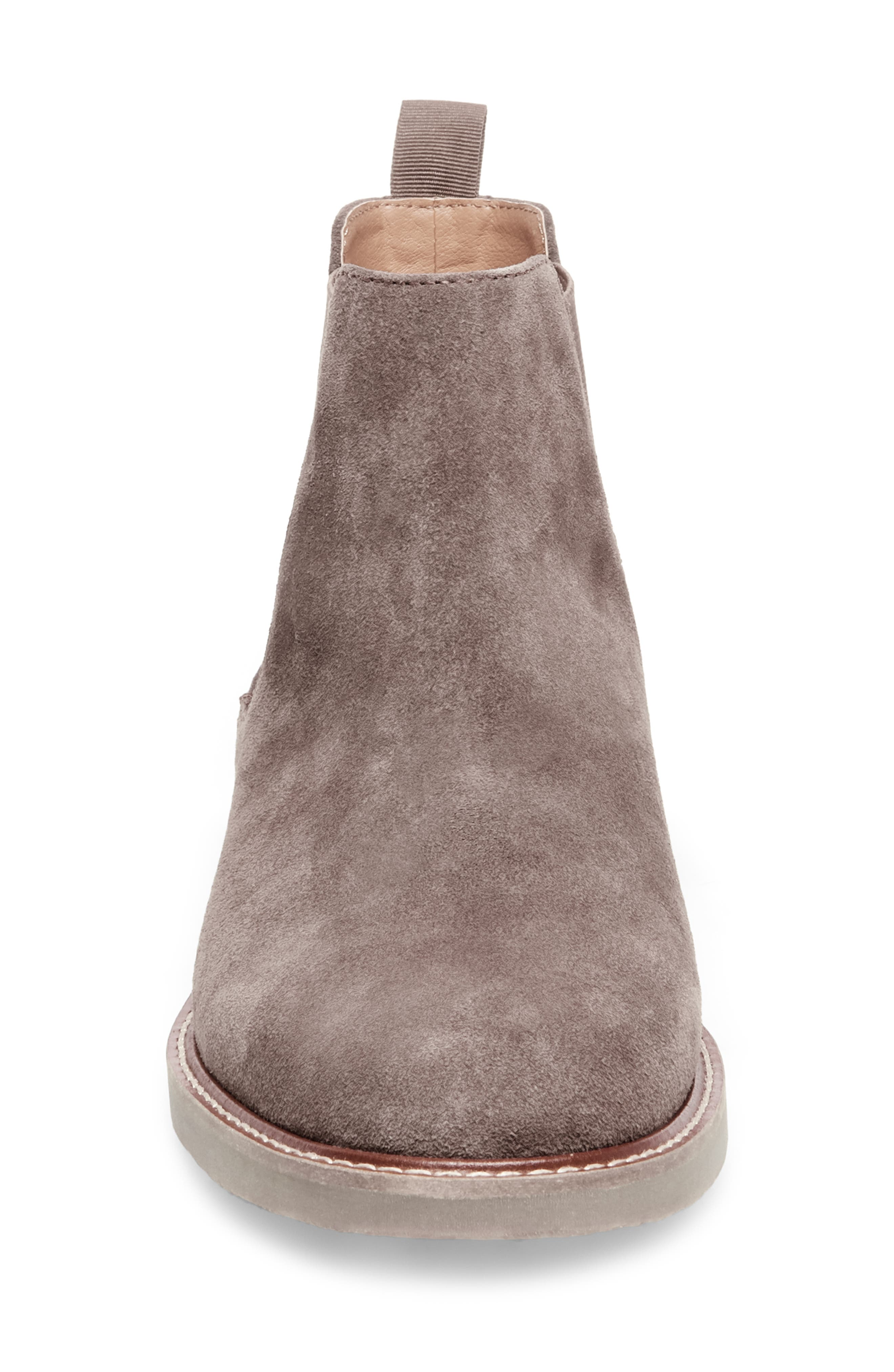 Highline Chelsea Boot,                             Alternate thumbnail 4, color,                             TAUPE SUEDE