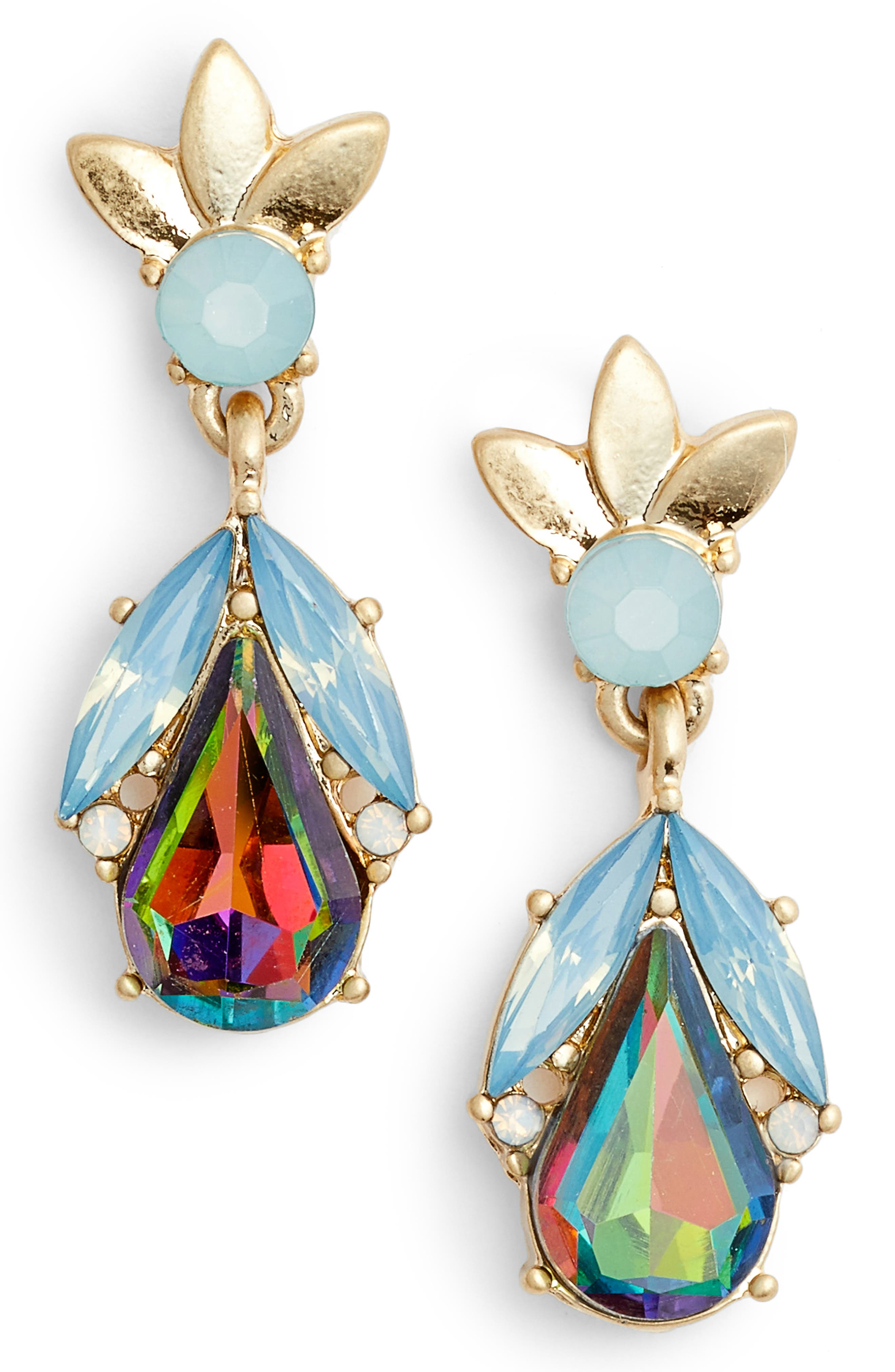 Teardrop Petal Earrings,                         Main,                         color,