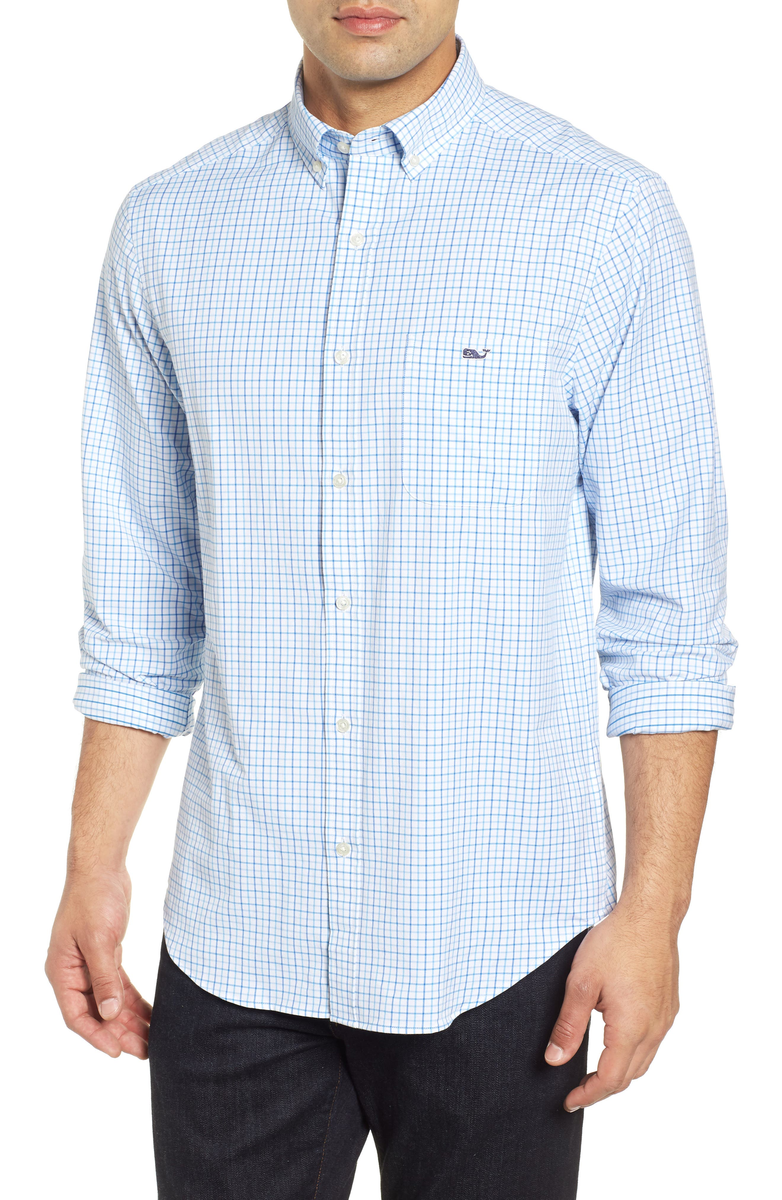 Pepperbush Regular Fit Plaid Sport Shirt,                         Main,                         color, 427