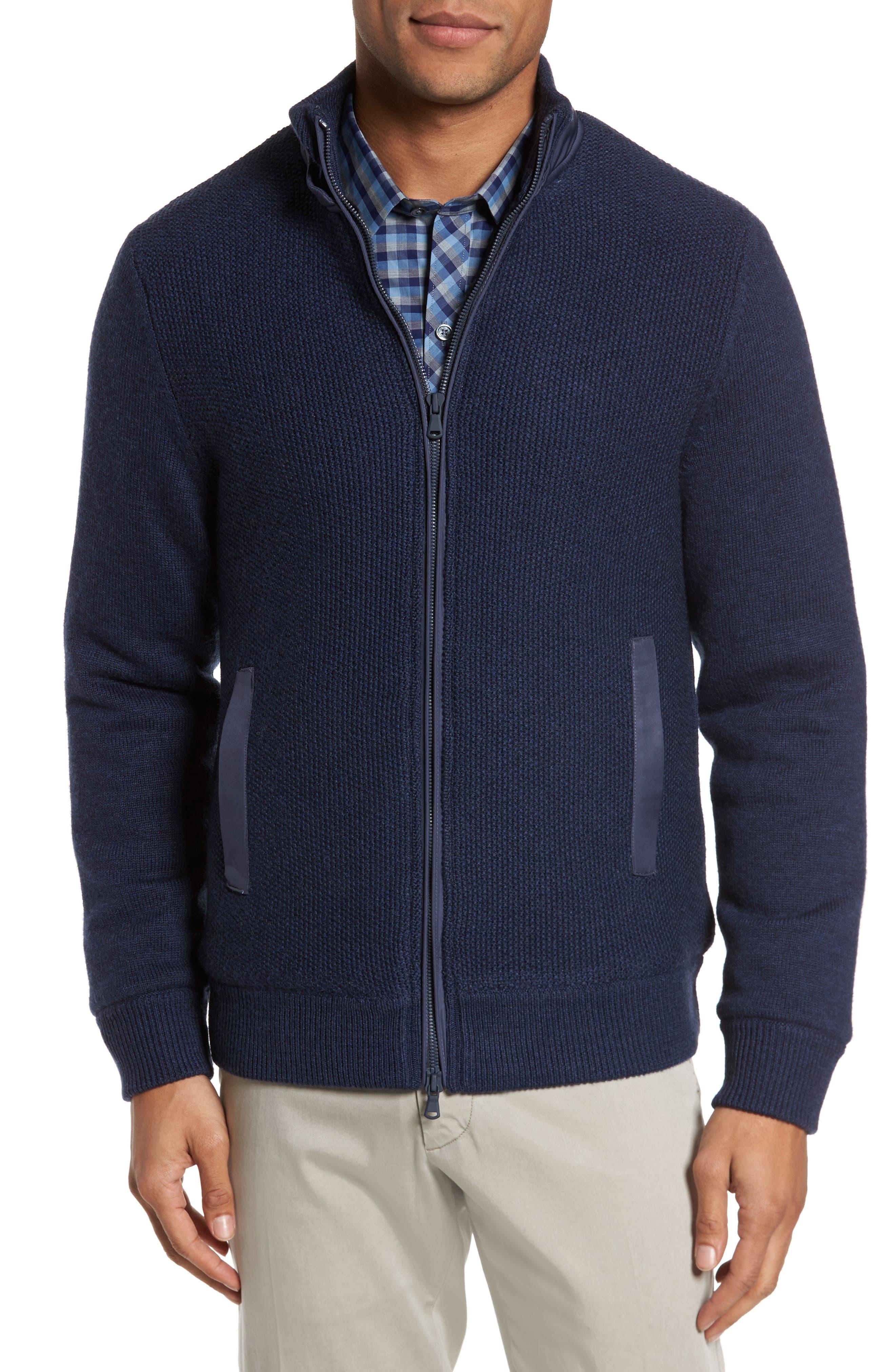 Haydon Merino Wool Sweater Jacket,                             Alternate thumbnail 4, color,                             410