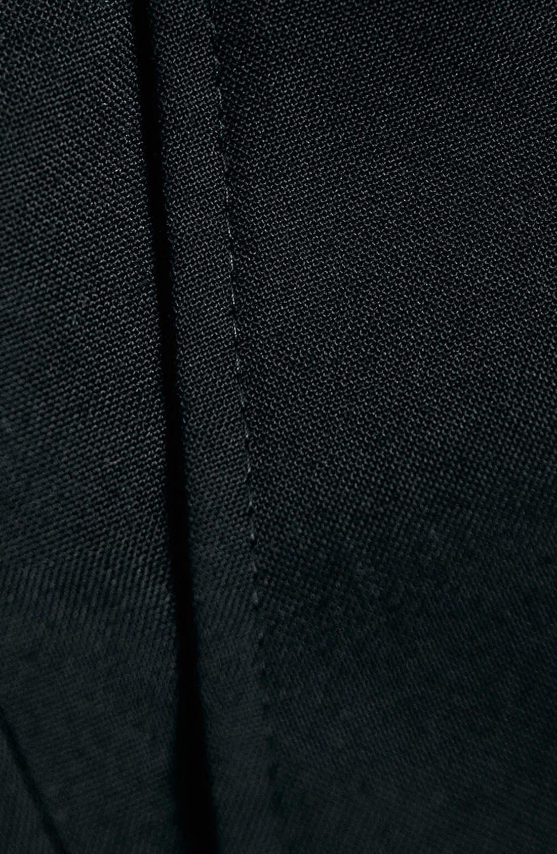 Black Skinny Fit Trousers,                             Alternate thumbnail 4, color,                             001