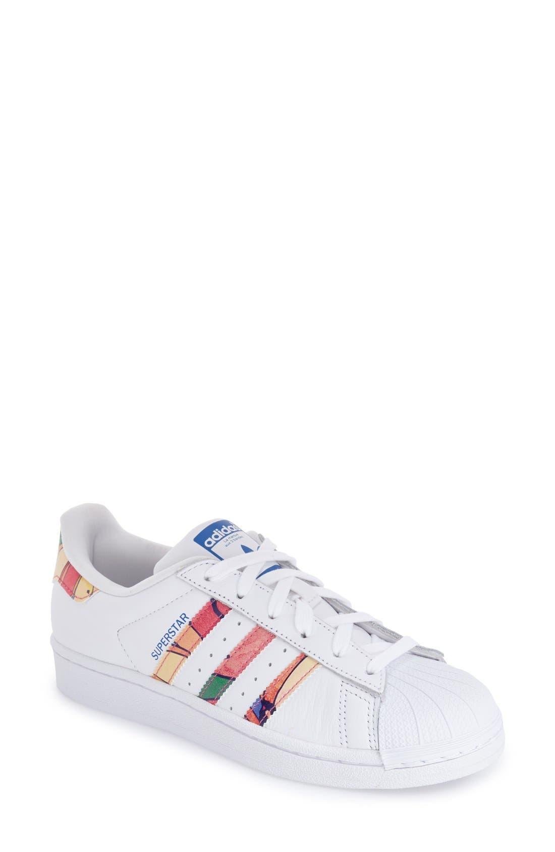 'Superstar' Print Sneaker, Main, color, 107