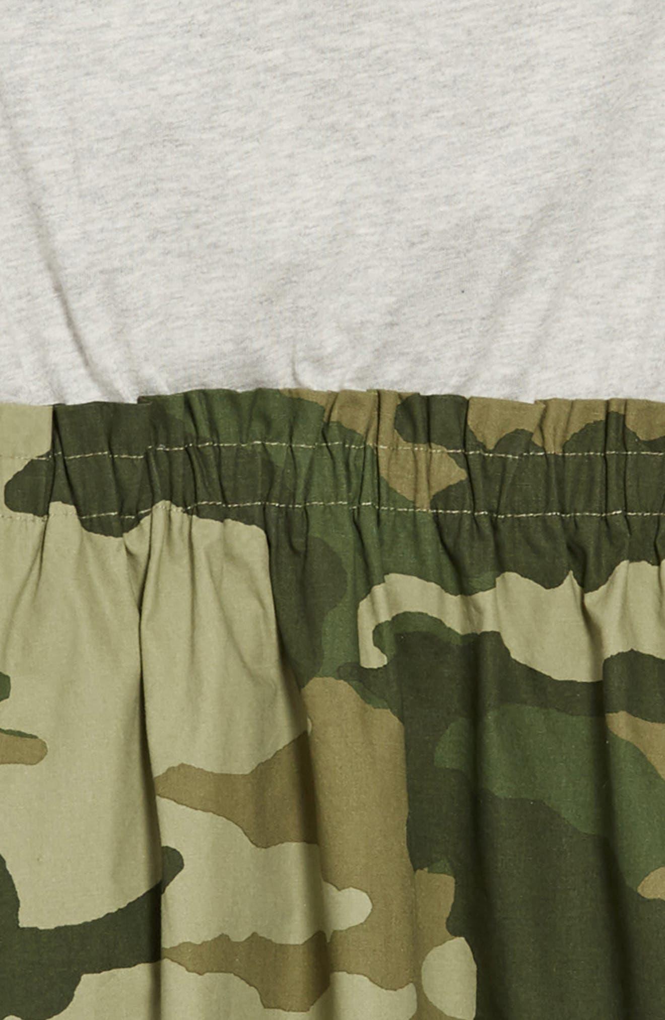 Mixed Media Dress,                             Alternate thumbnail 3, color,                             HTHR DUSK