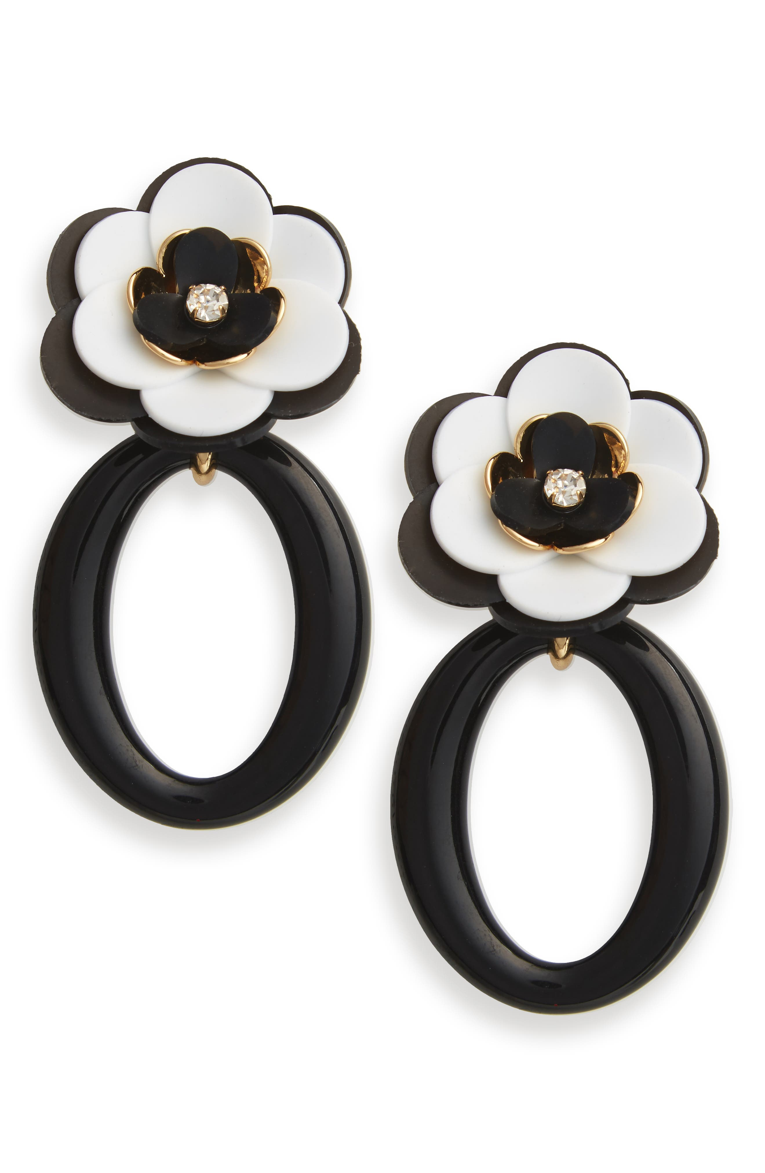 rosy posies statement drop earrings,                         Main,                         color, 021