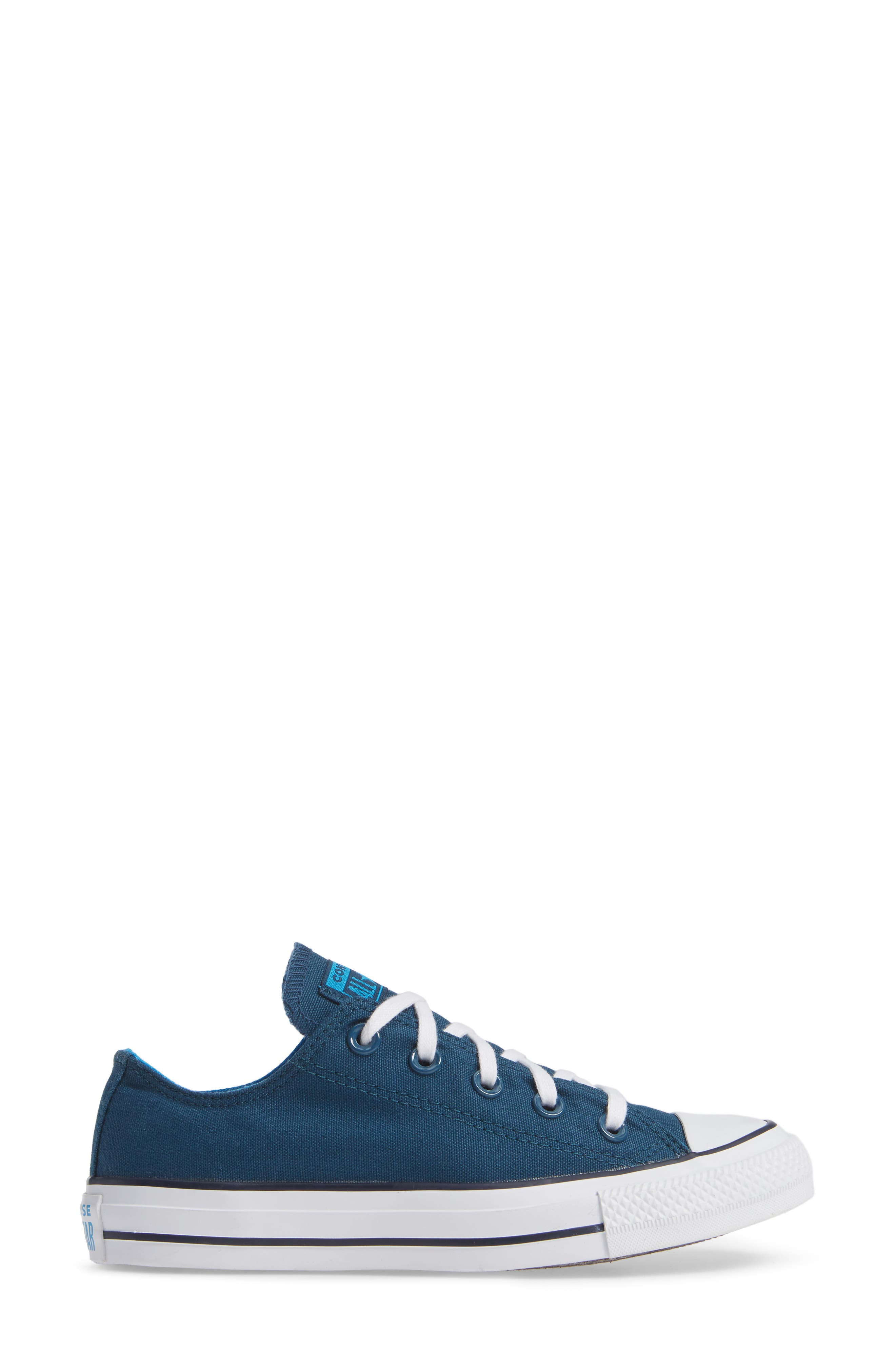 Chuck Taylor<sup>®</sup> All Star<sup>®</sup> Seasonal Ox Low Top Sneaker,                             Alternate thumbnail 3, color,                             BLUE FIR