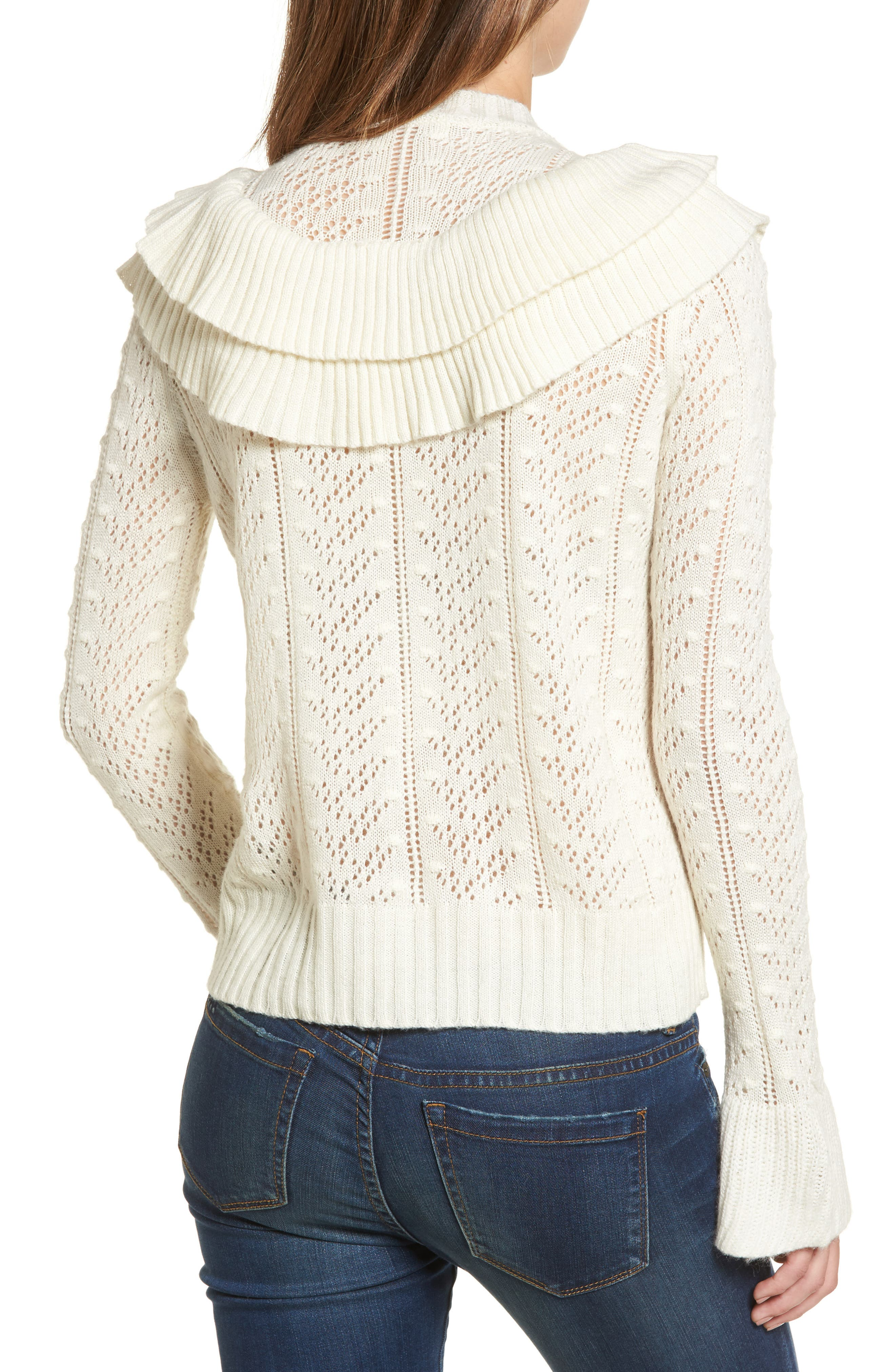 Manny Ruffle Sweater,                             Alternate thumbnail 2, color,                             900