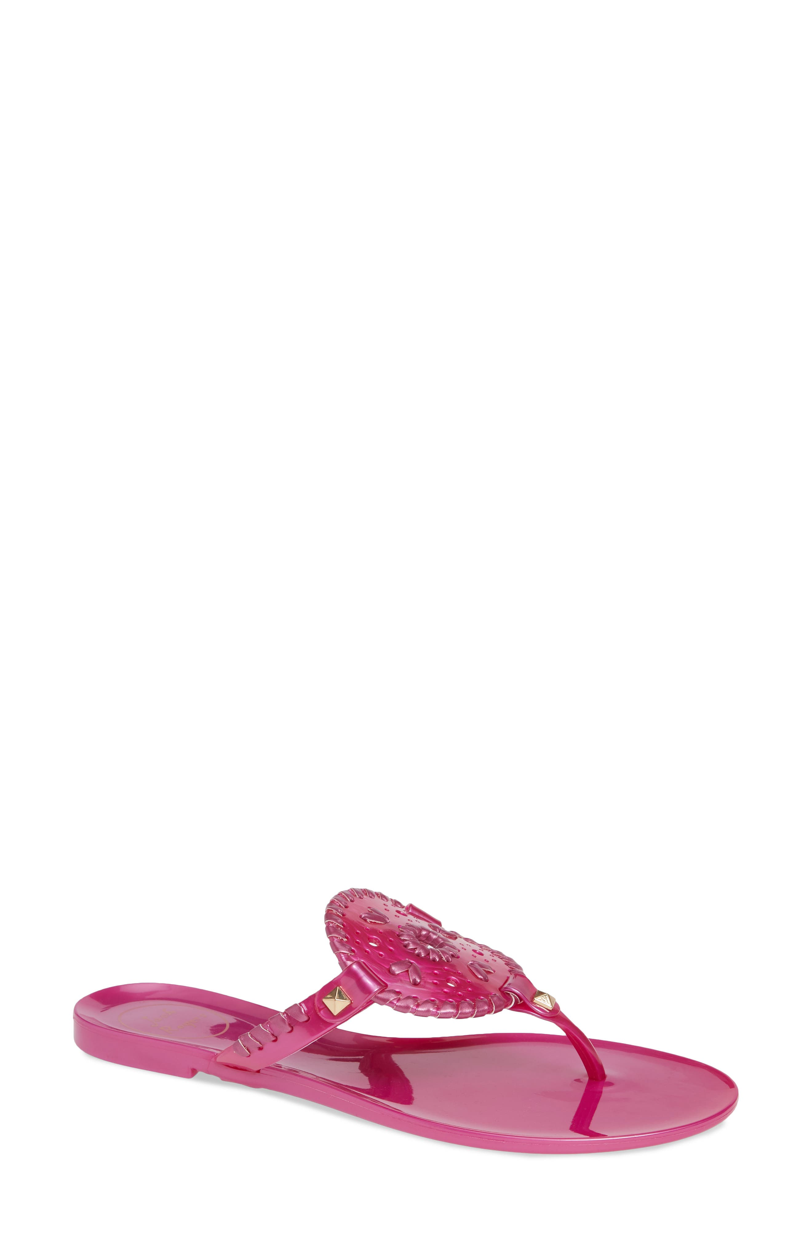 'Georgica' Jelly Flip Flop,                         Main,                         color, BRIGHT PINK