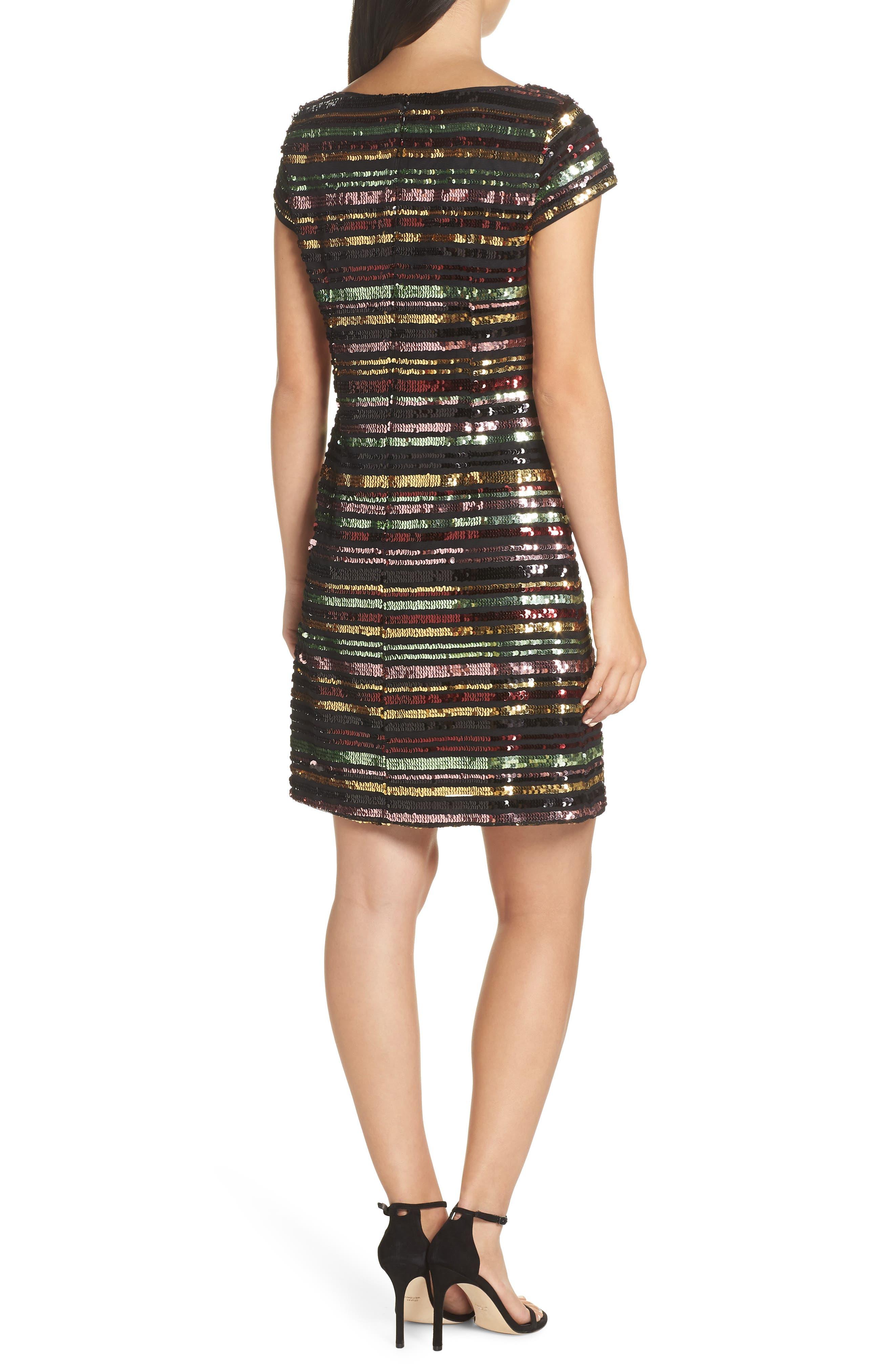Sequin Stripe Dress,                             Alternate thumbnail 2, color,                             SEQUIN PRINT
