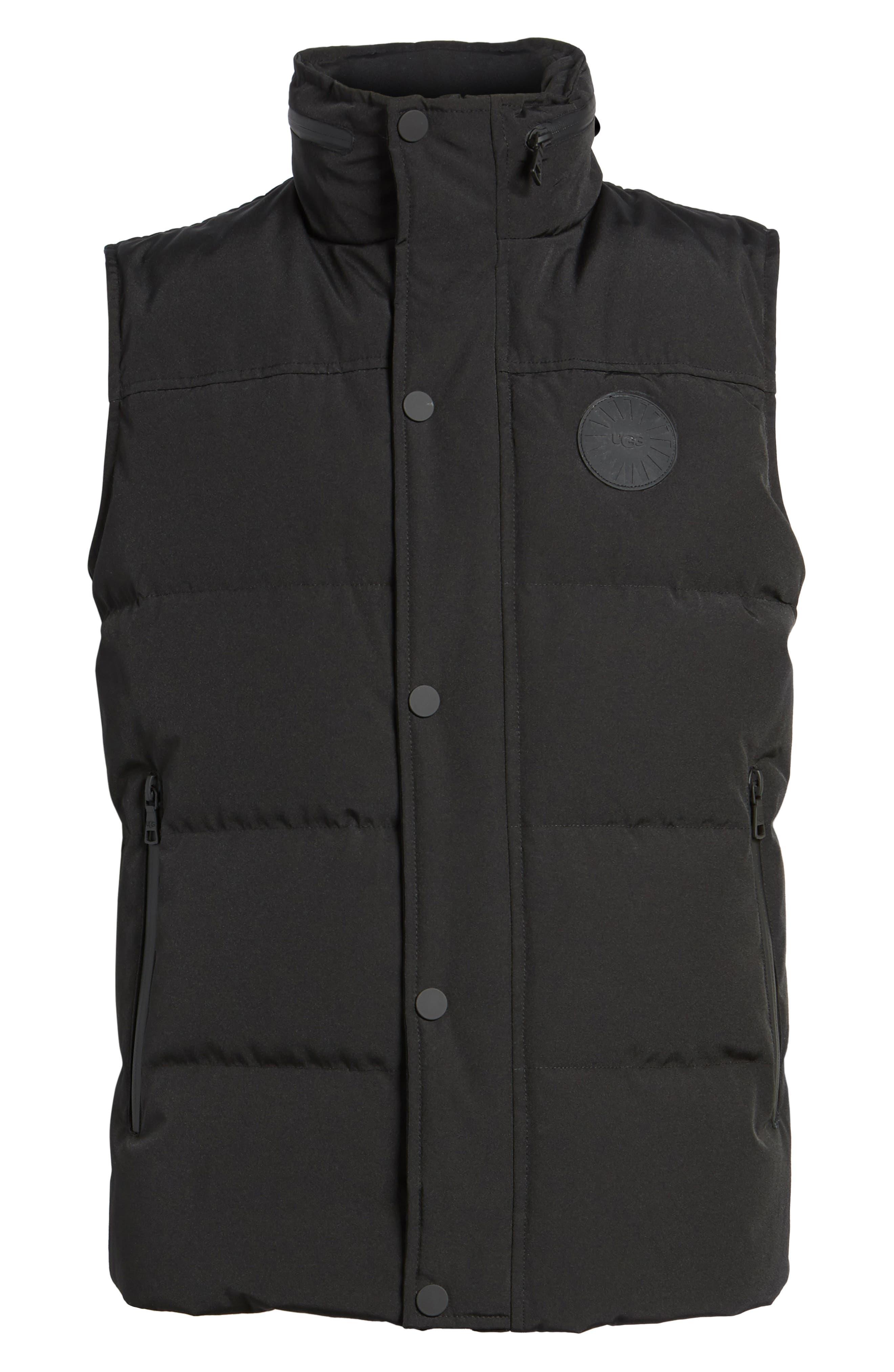 Water-Resistant Down Vest,                             Alternate thumbnail 5, color,                             001