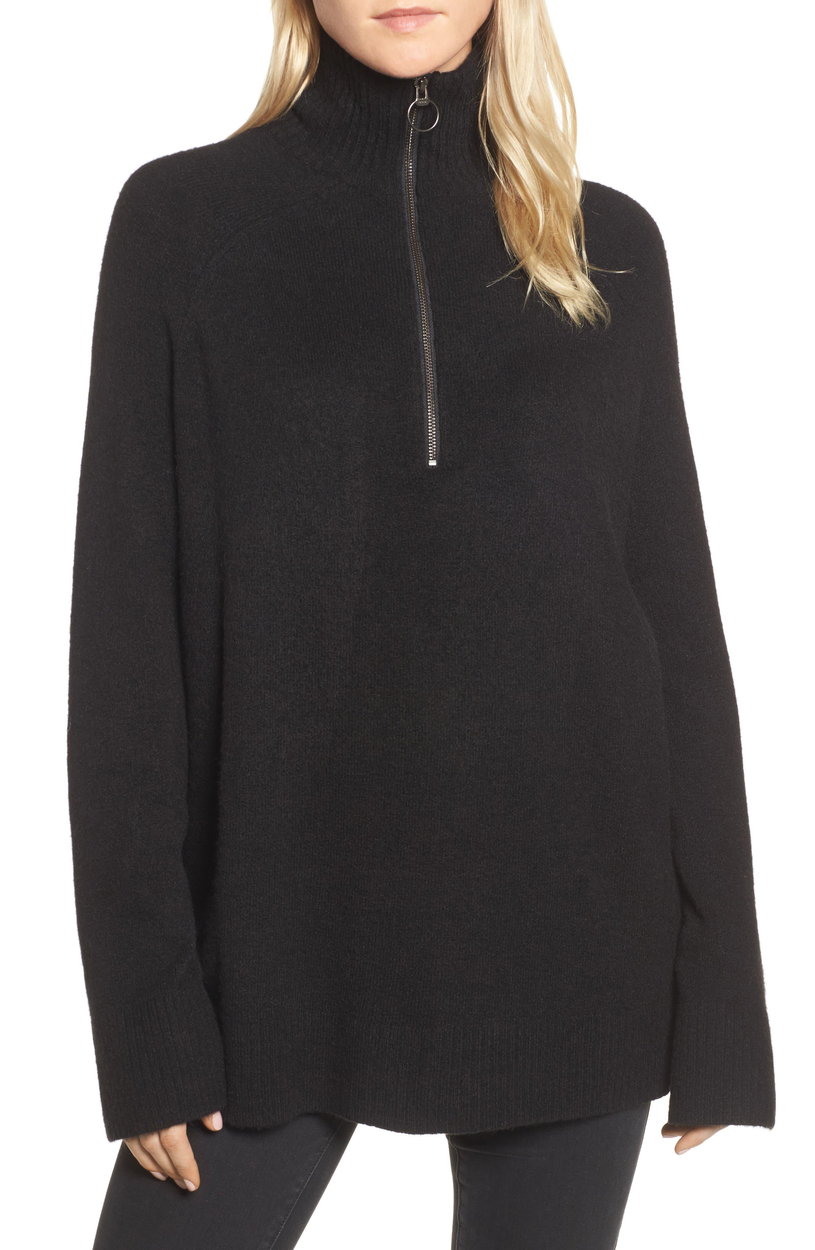 Half Zip Pullover,                         Main,                         color, 001