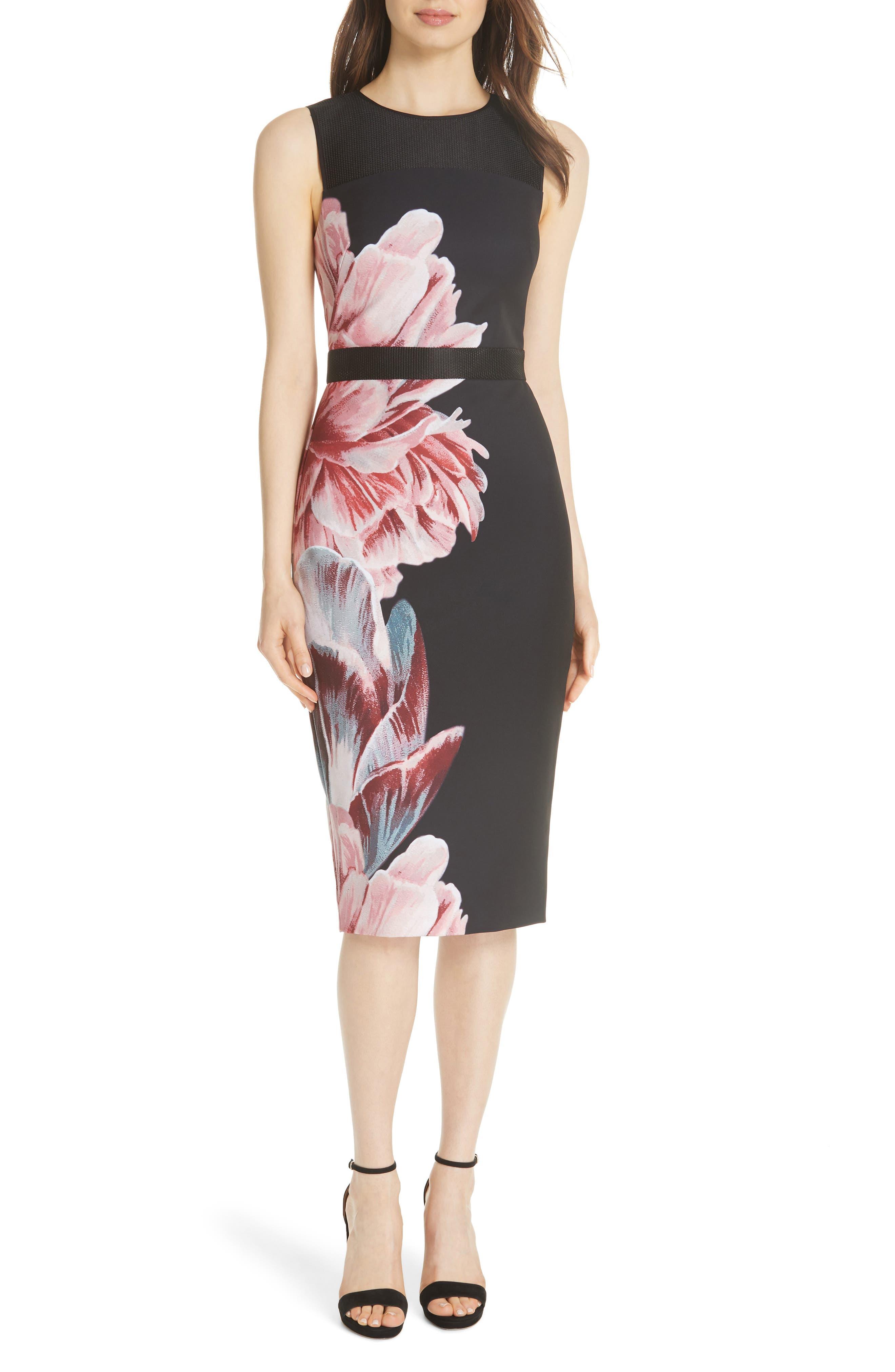 Xanadu Tranquility Sheath Dress,                         Main,                         color, BLACK