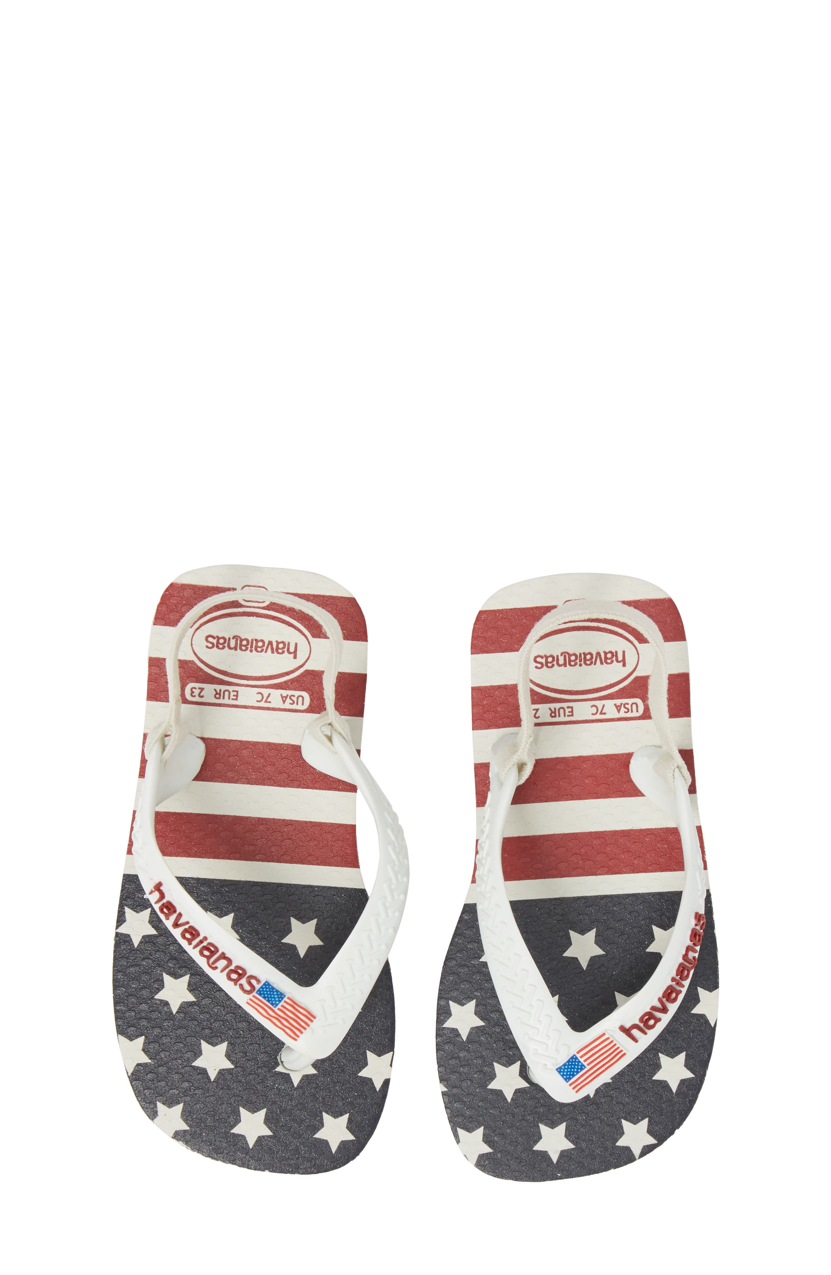 Baby Stars & Stripes Flip Flop,                             Main thumbnail 1, color,                             101