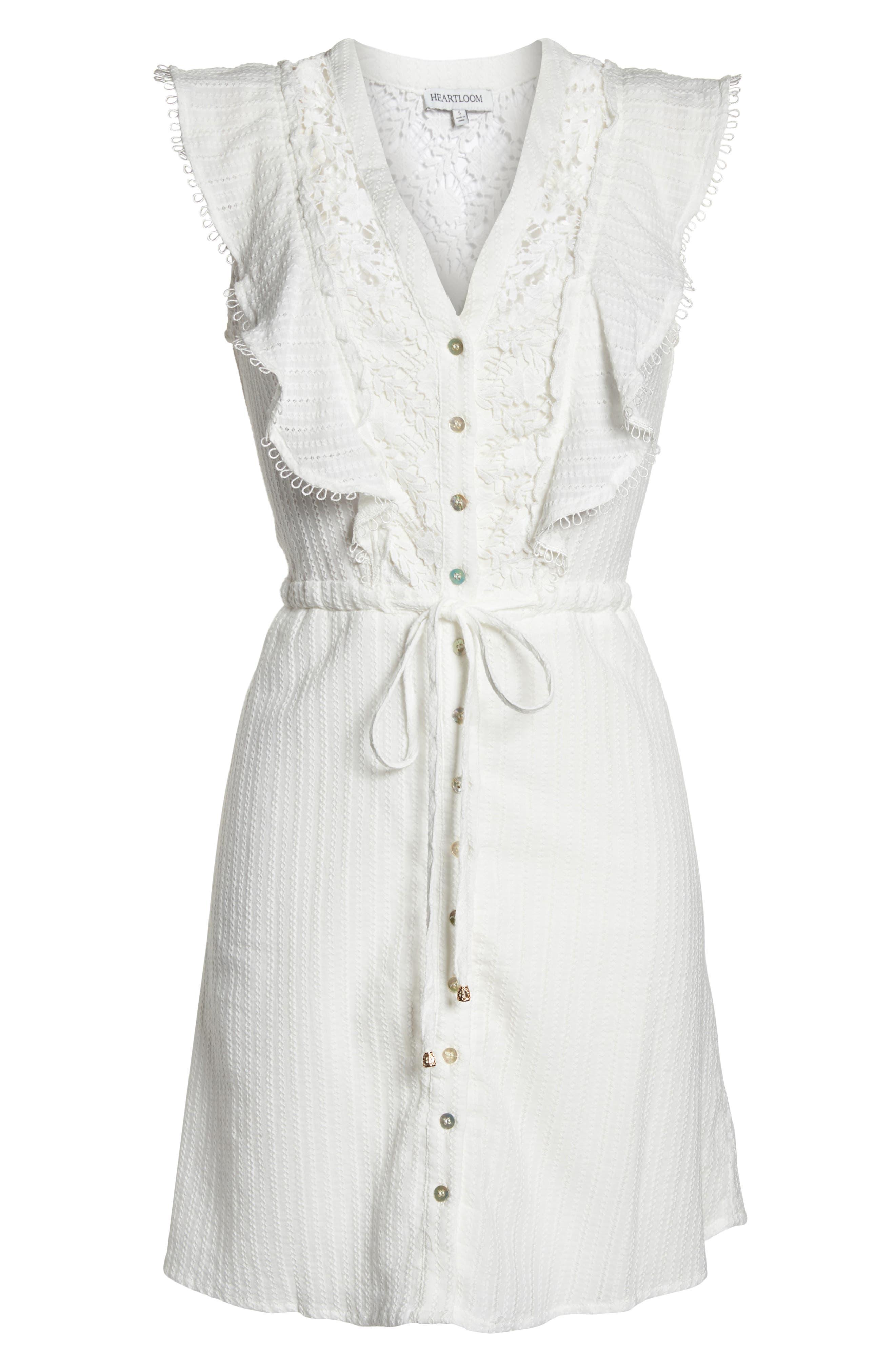 Oli Ruffle Lace Dress,                             Alternate thumbnail 7, color,