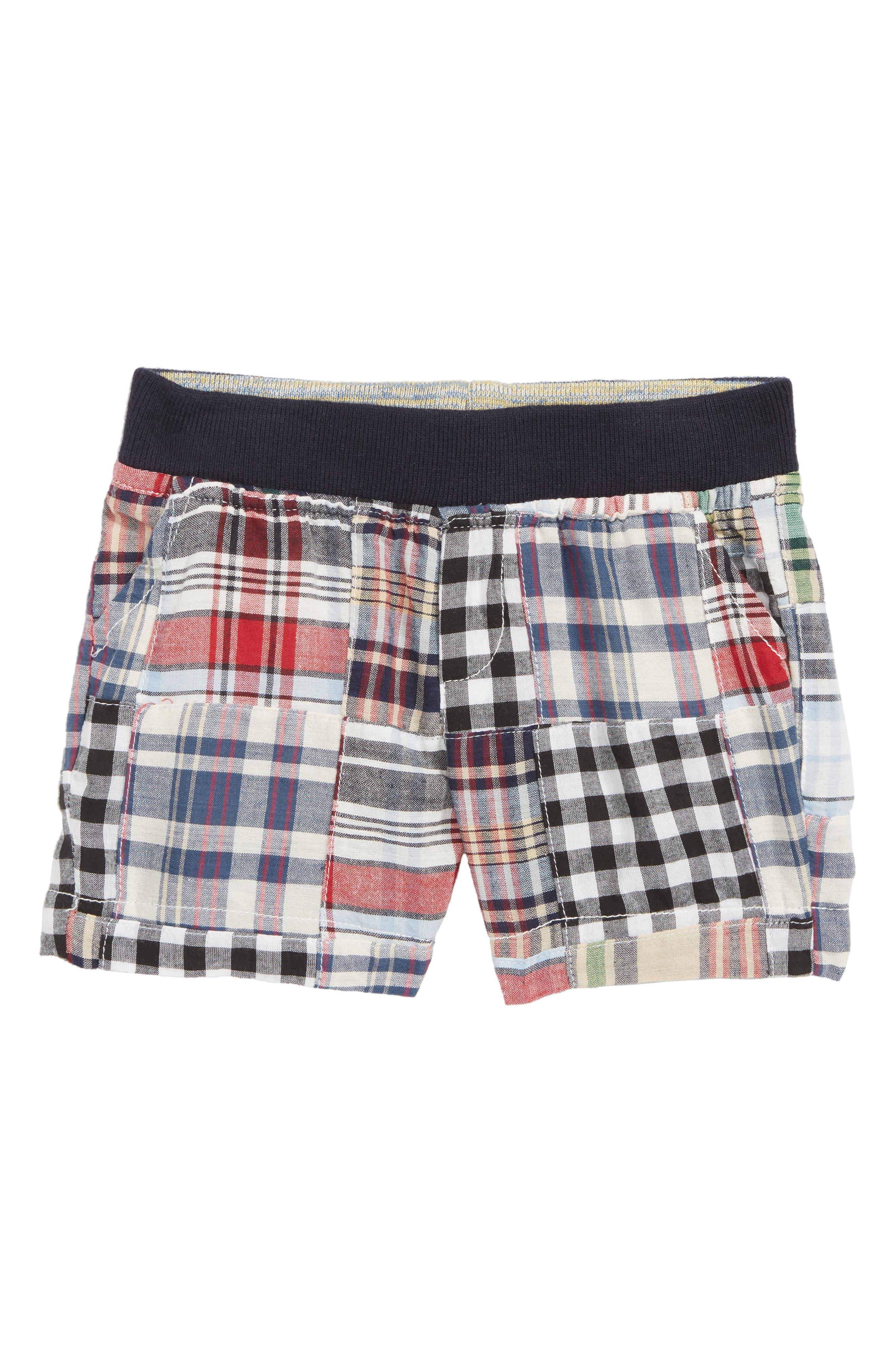 Maxwell Patchwork Plaid Shorts,                             Main thumbnail 1, color,                             400