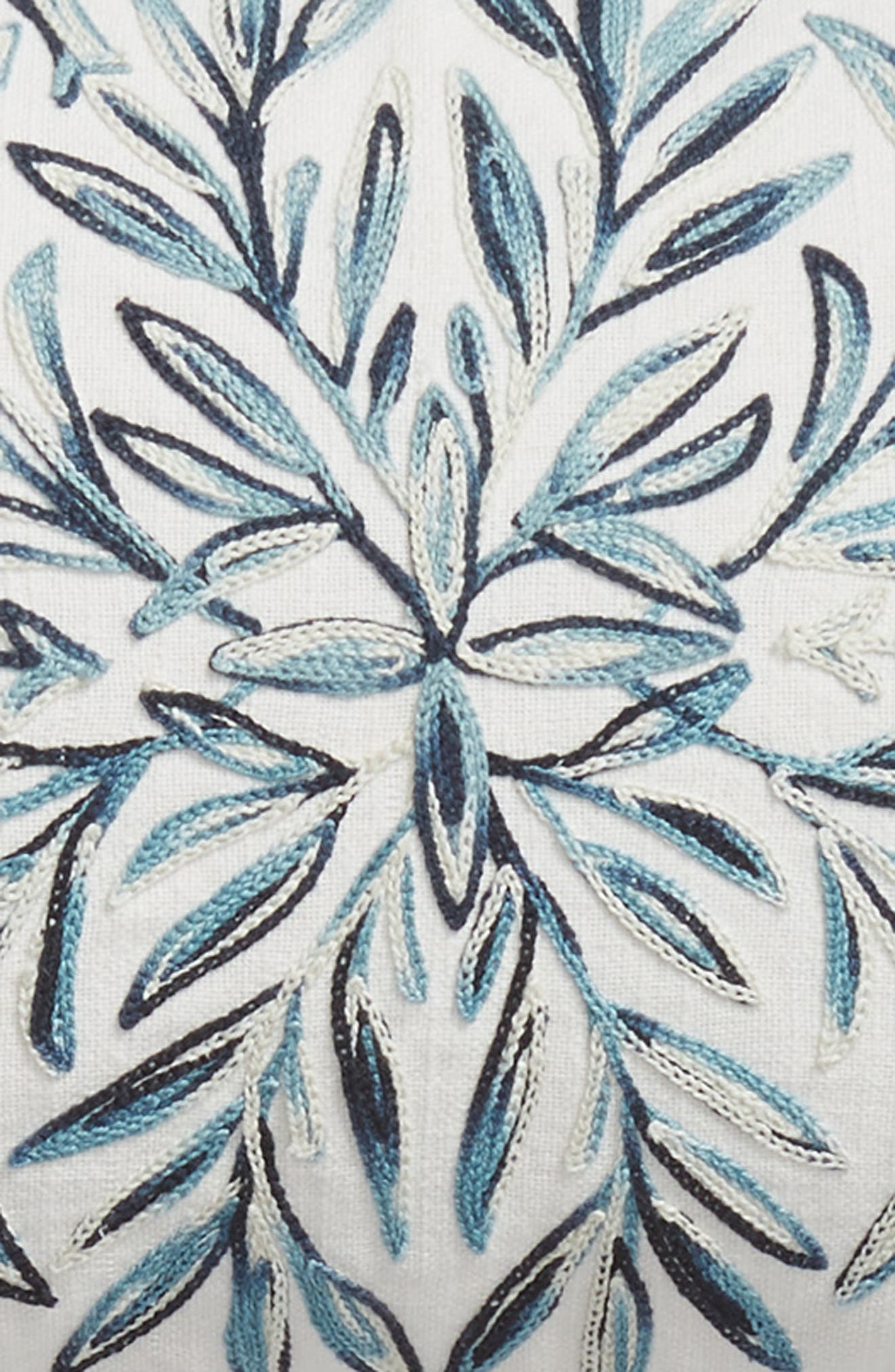 Space Dyed Embroidered Accent Pillow,                             Alternate thumbnail 3, color,                             TEAL HYDRO MULTI