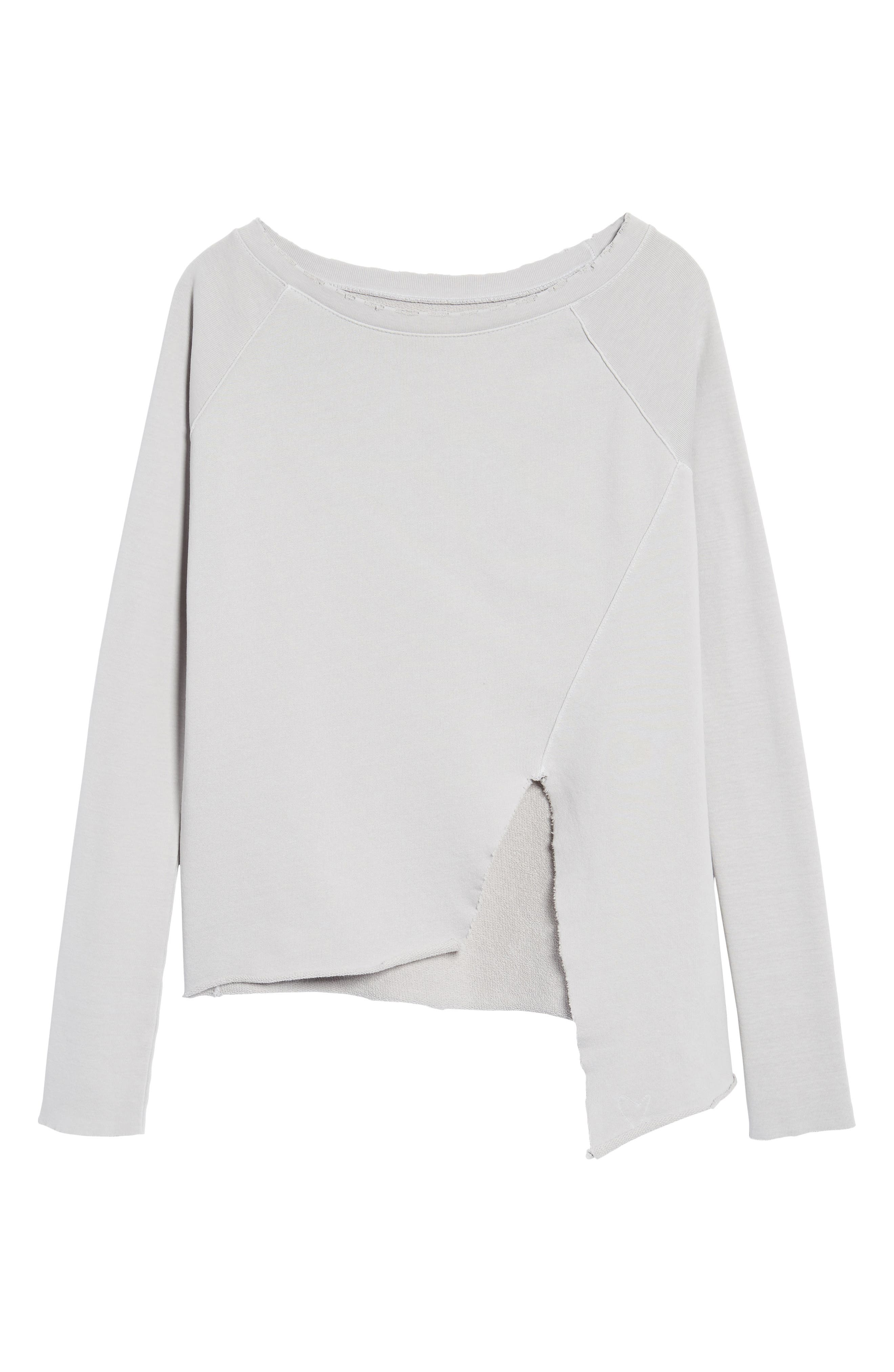 Asymmetric Sweatshirt,                             Alternate thumbnail 6, color,                             038