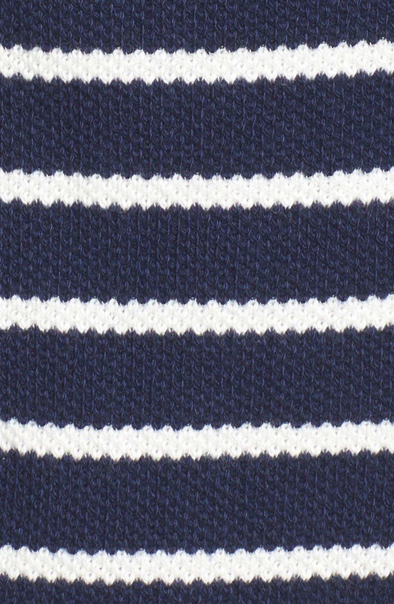 Stripe Knit Drawsting Jacket,                             Alternate thumbnail 6, color,                             410