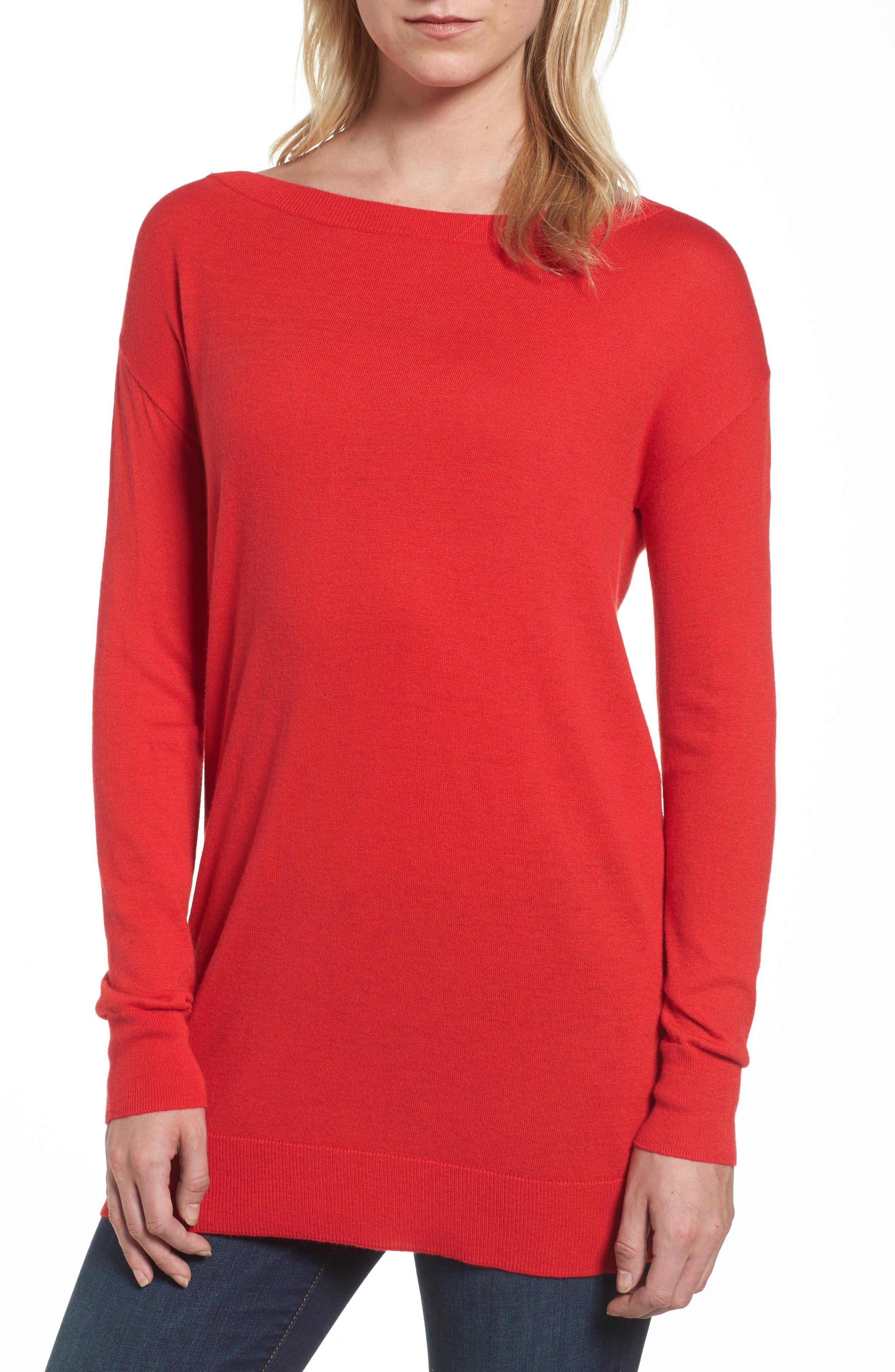 Boatneck Tunic Sweater,                             Main thumbnail 9, color,