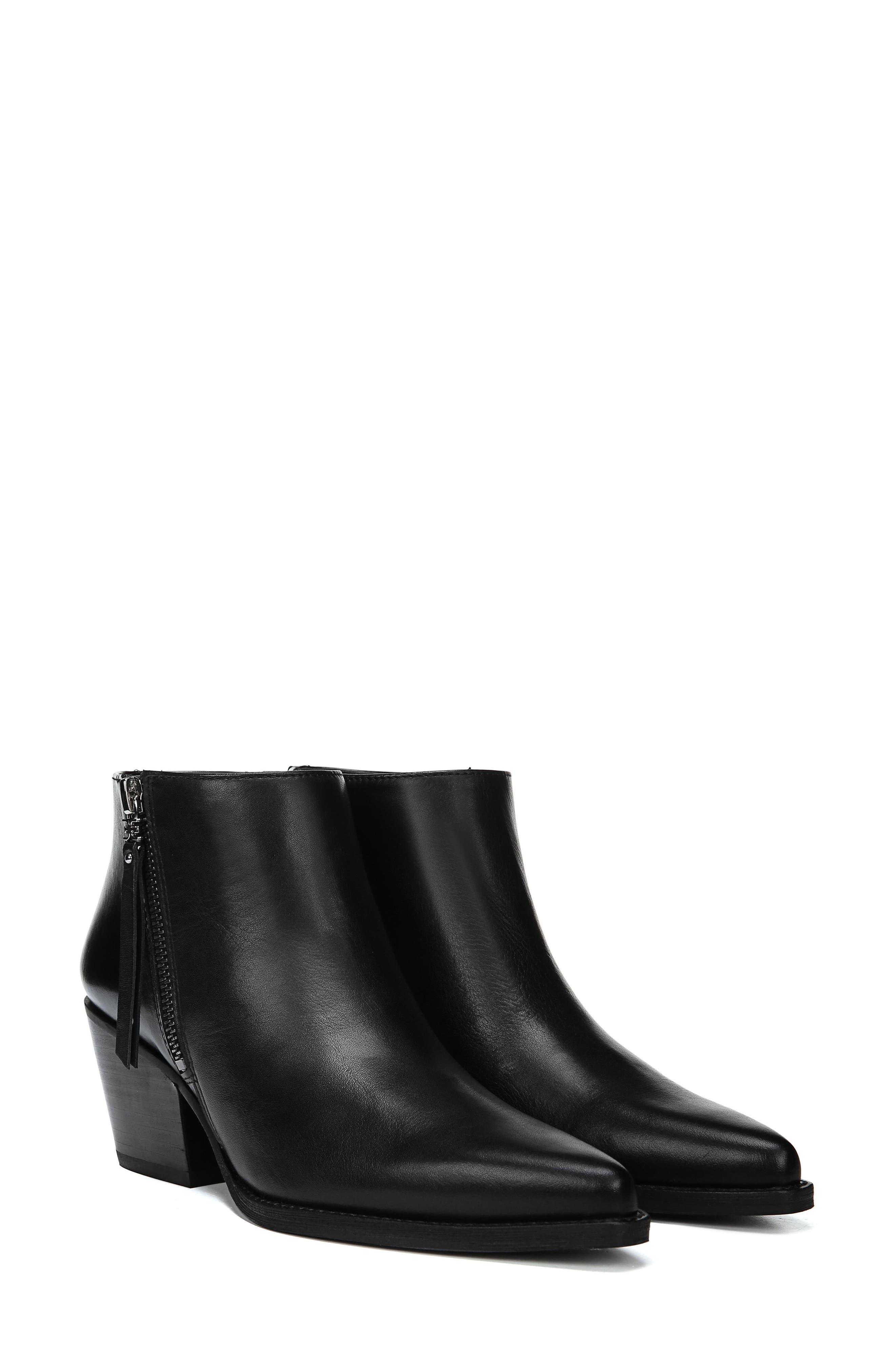 Walden Bootie,                             Alternate thumbnail 7, color,                             BLACK LEATHER
