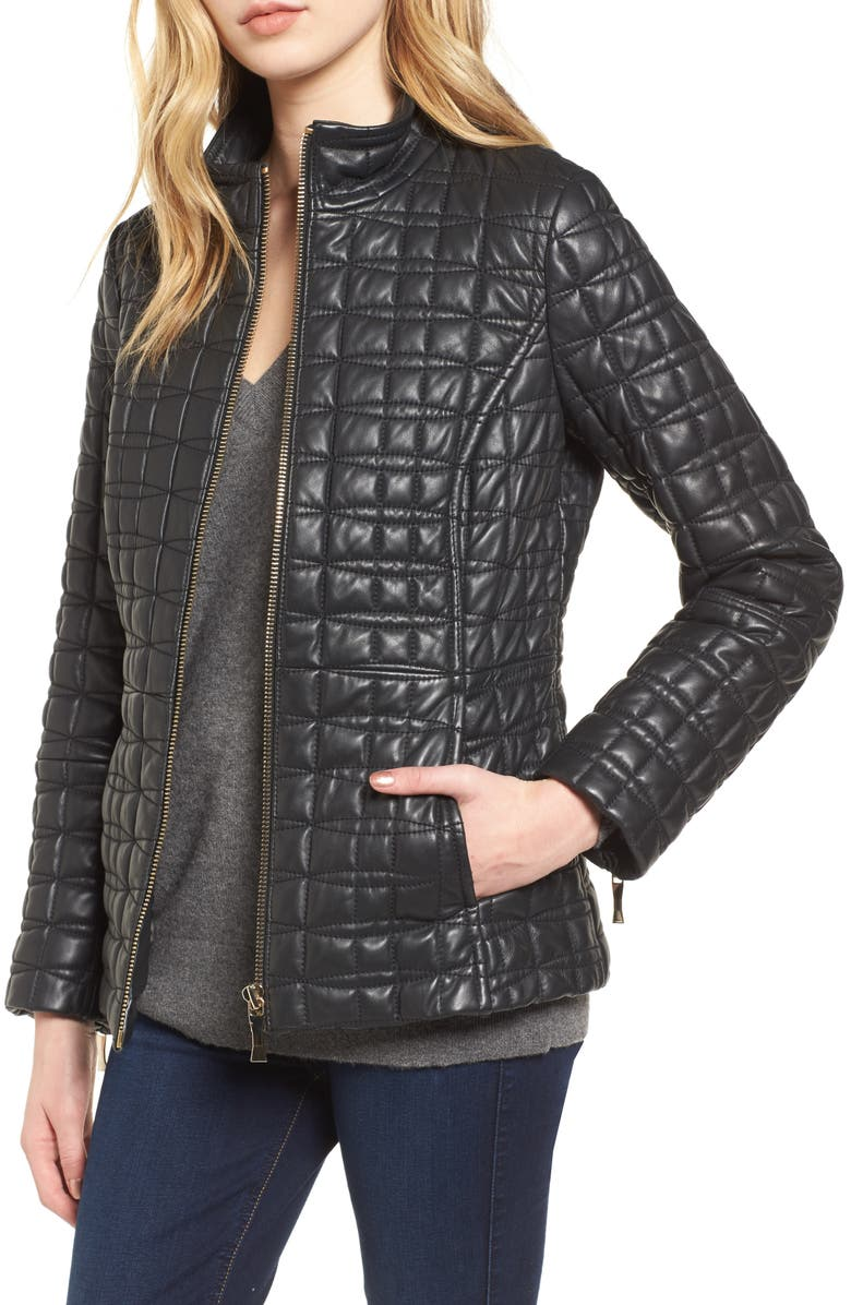 Kate Spade New York Quilted Leather Jacket Nordstrom