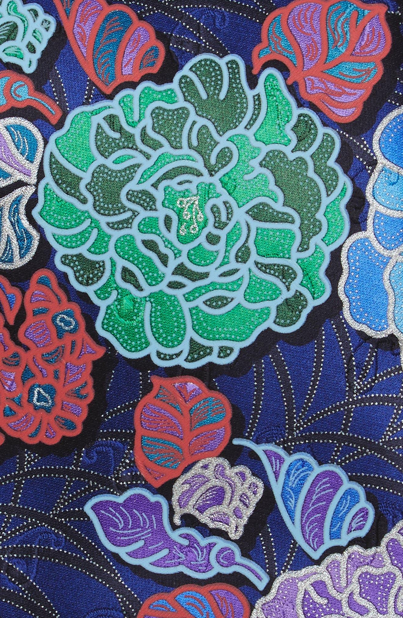 Quindici Floral Silk Tie,                             Alternate thumbnail 5, color,