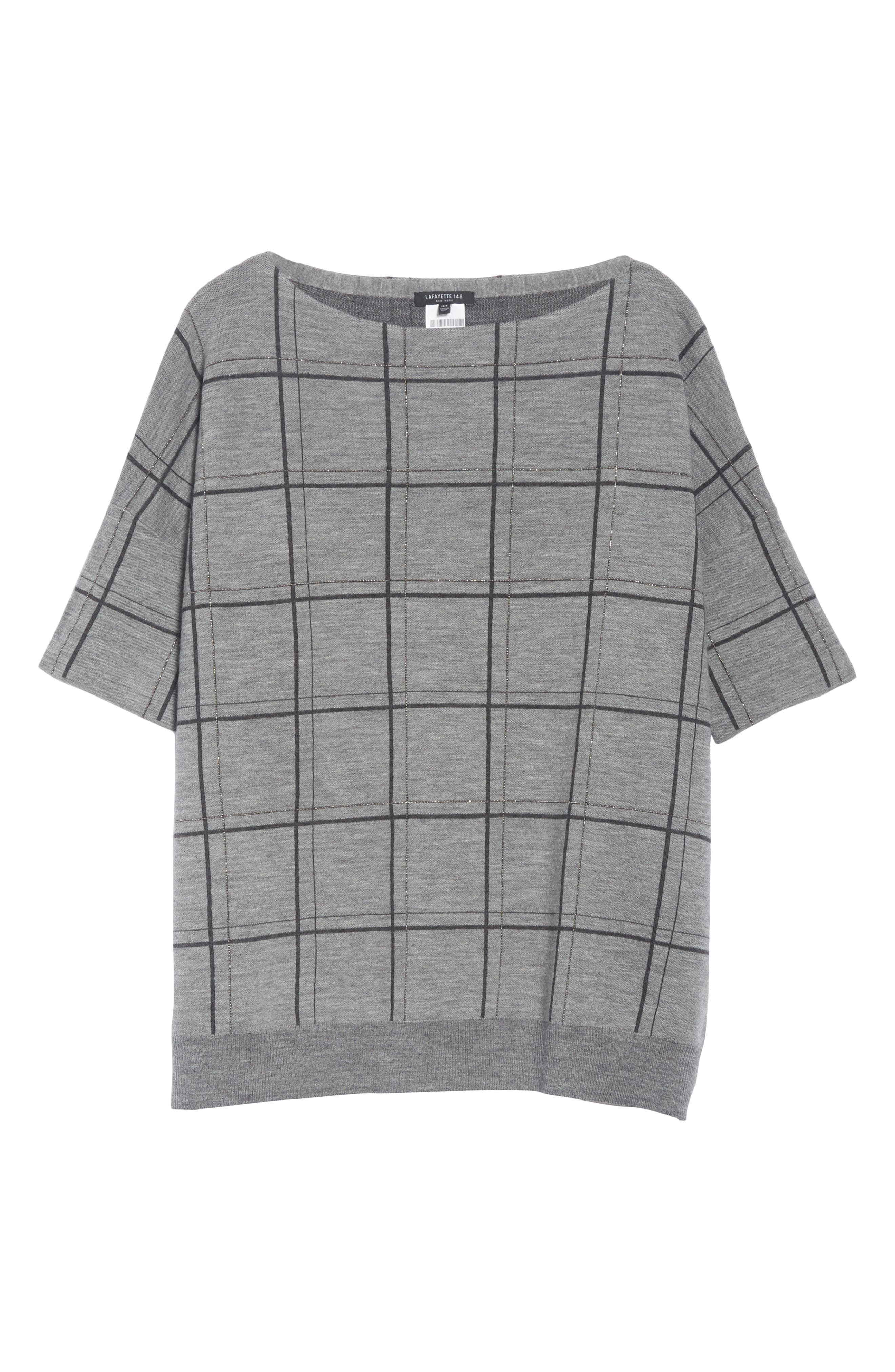 LAFAYETTE 148 NEW YORK,                             Chain Embellished Oversize Jacquard Sweater,                             Alternate thumbnail 6, color,                             056