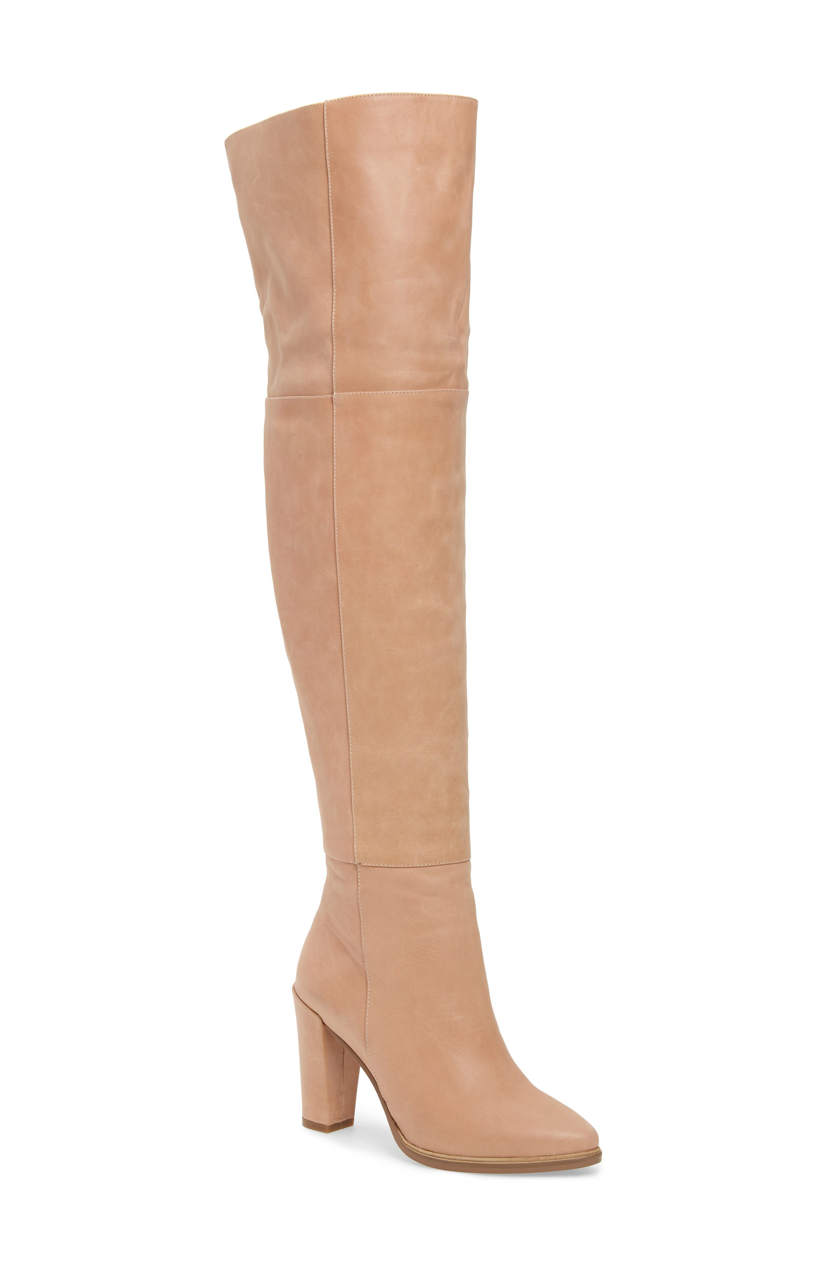 ALIAS MAE Alla Over The Knee Boot in Blush Leather