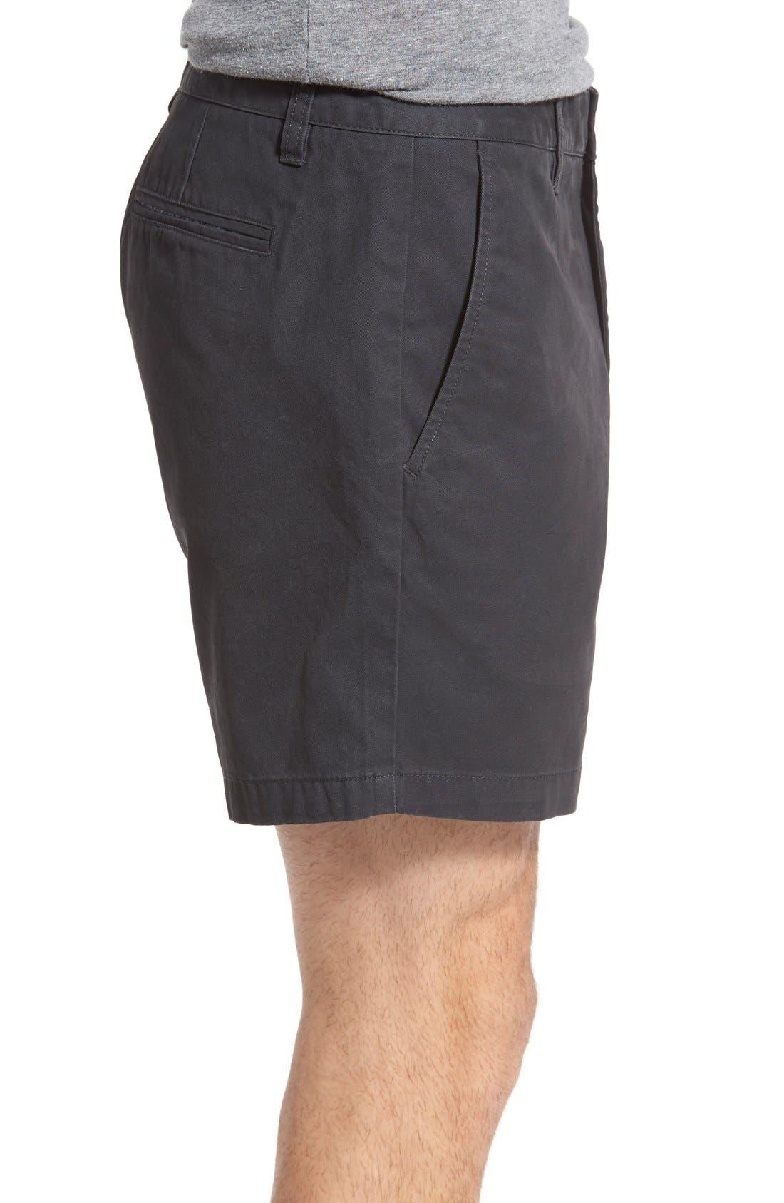 Washed Chino Shorts,                             Alternate thumbnail 4, color,                             001