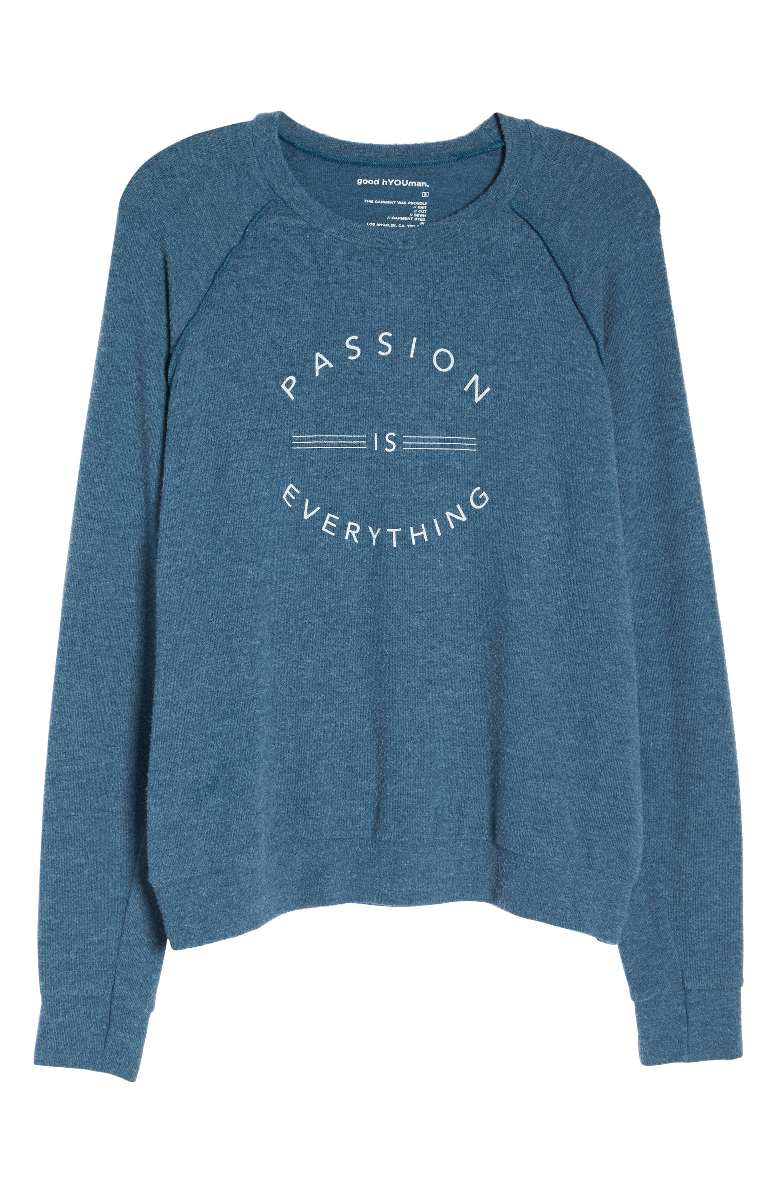 Passion Is Everything Sweatshirt,                             Alternate thumbnail 7, color,                             OCEAN
