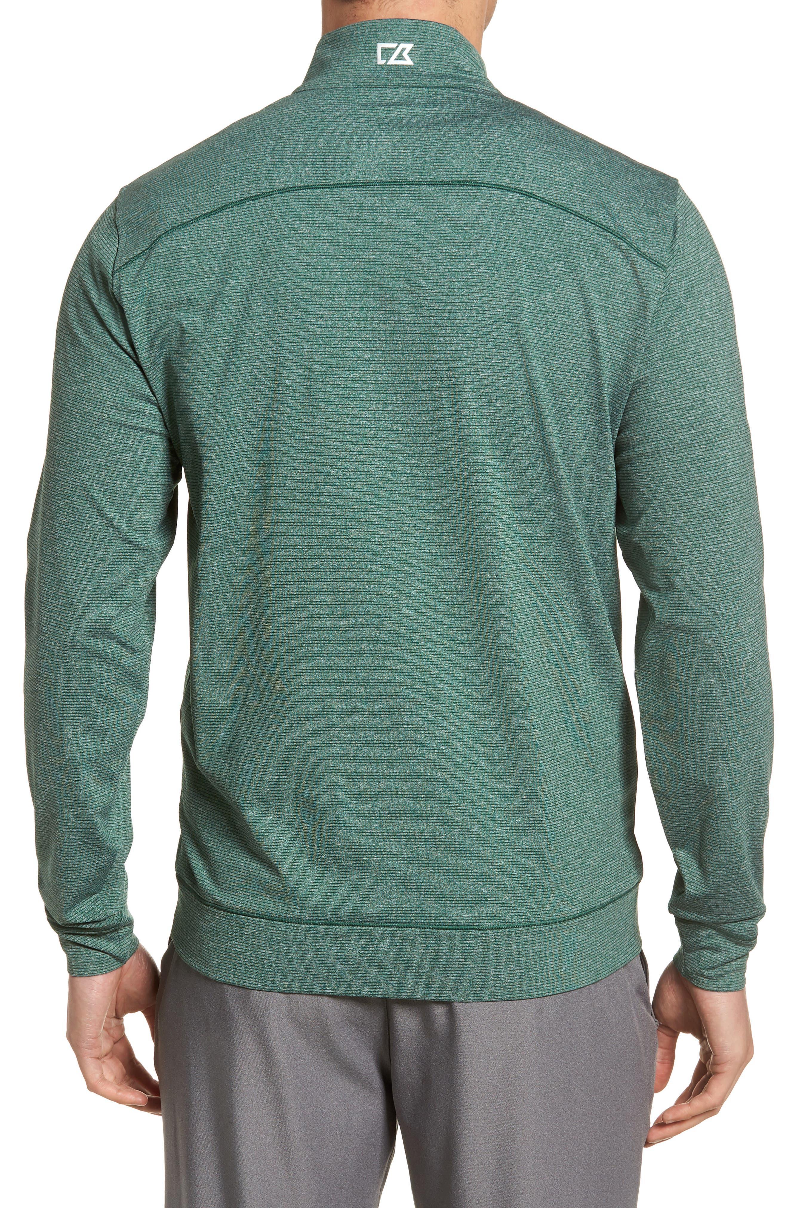 Shoreline Classic Fit Half Zip Pullover,                             Alternate thumbnail 2, color,                             HUNTER HEATHER