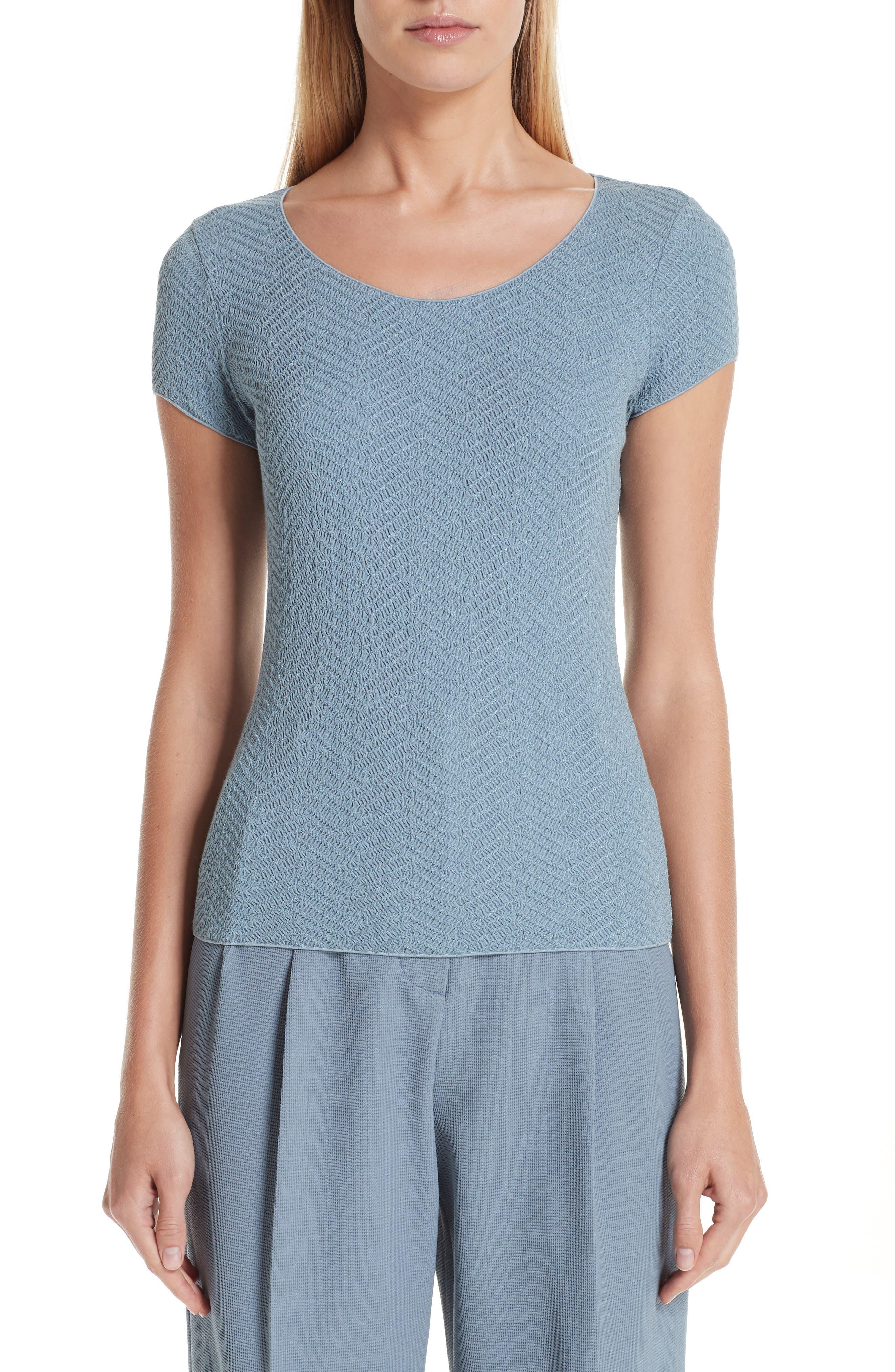 Short Sleeve Jersey Tee,                             Main thumbnail 1, color,                             STONE BLUE