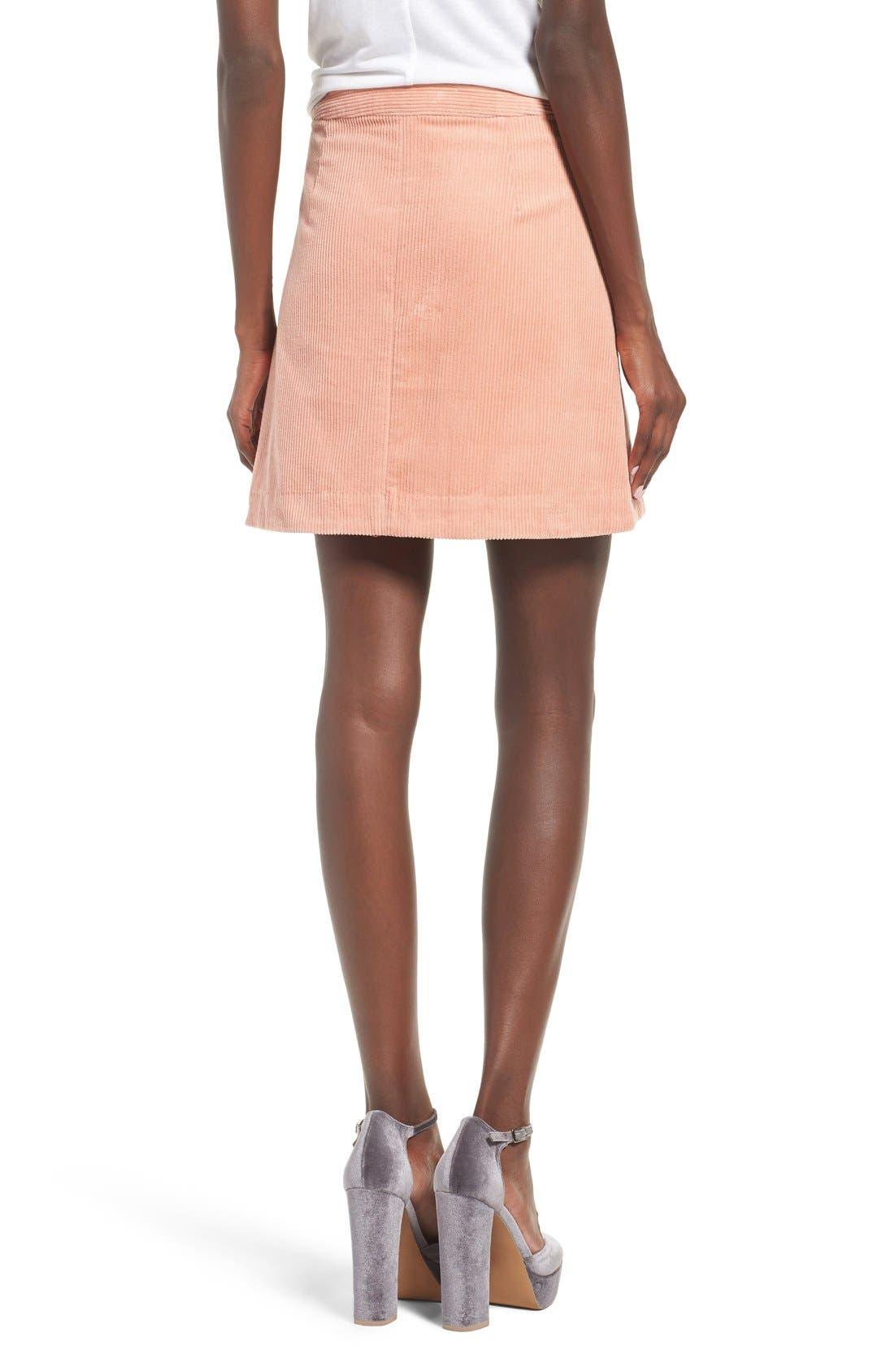 Irene Corduroy Miniskirt,                             Alternate thumbnail 2, color,                             650