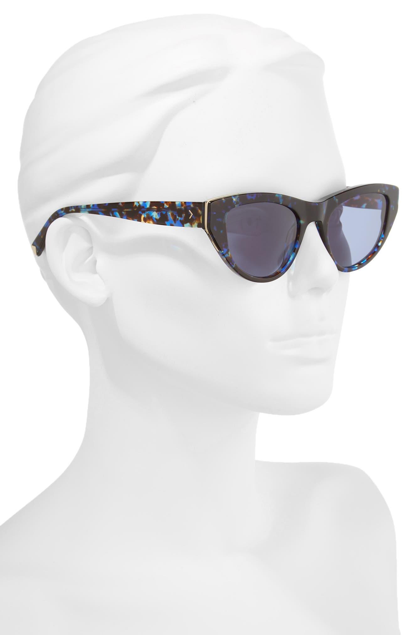 Sienna 52mm Retro Cat Eye Sunglasses,                             Alternate thumbnail 6, color,