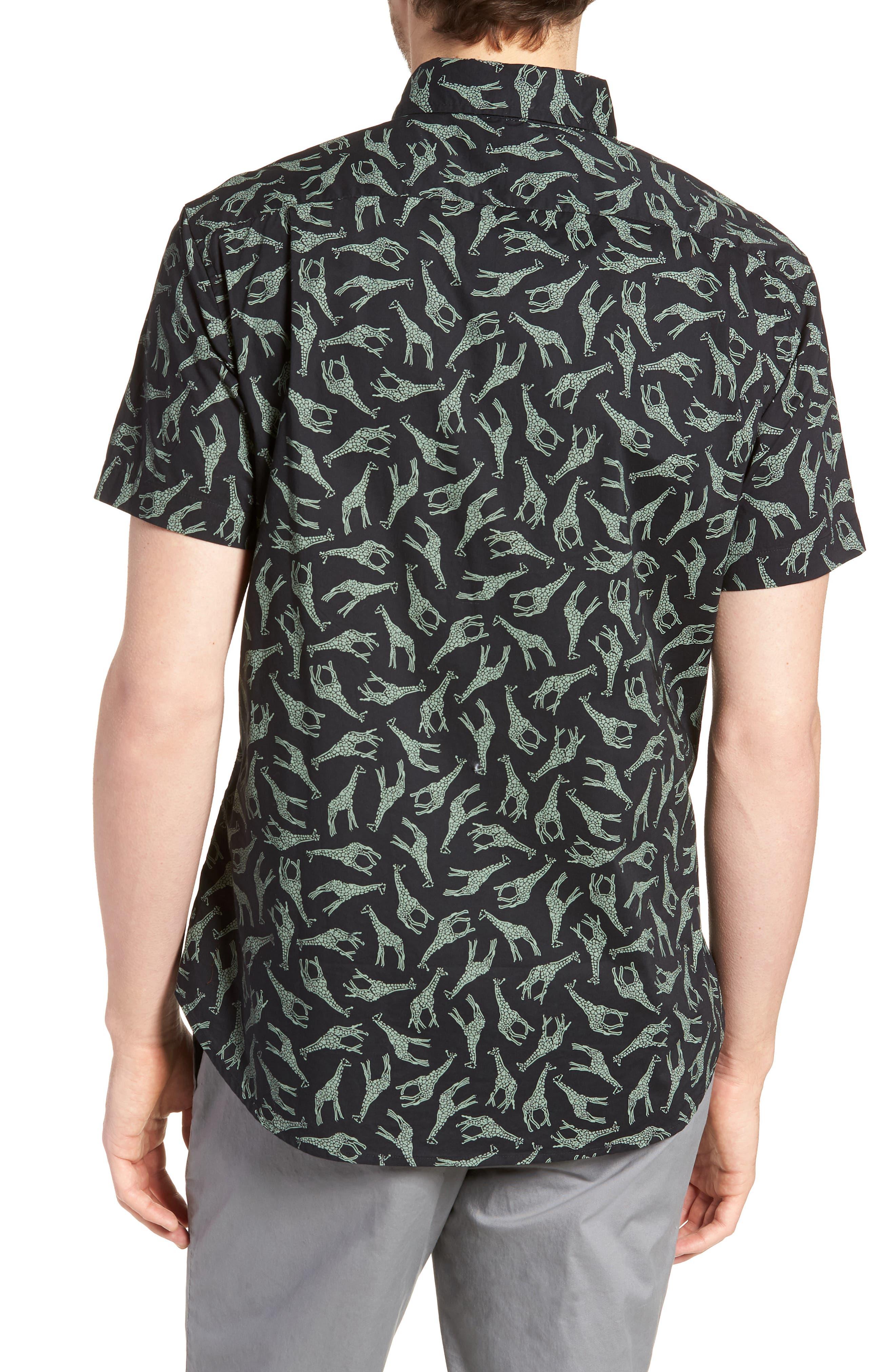 BONOBOS,                             Riviera Slim Fit Giraffe Print Sport Shirt,                             Alternate thumbnail 2, color,                             001
