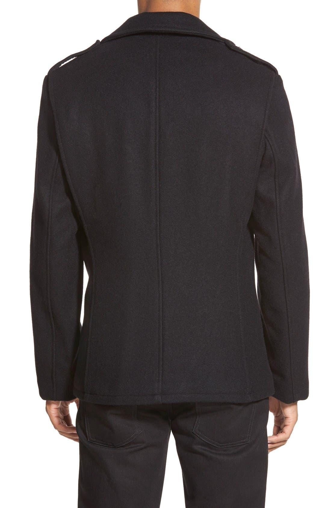 Slim Fit Wool Military Jacket,                             Alternate thumbnail 2, color,                             001
