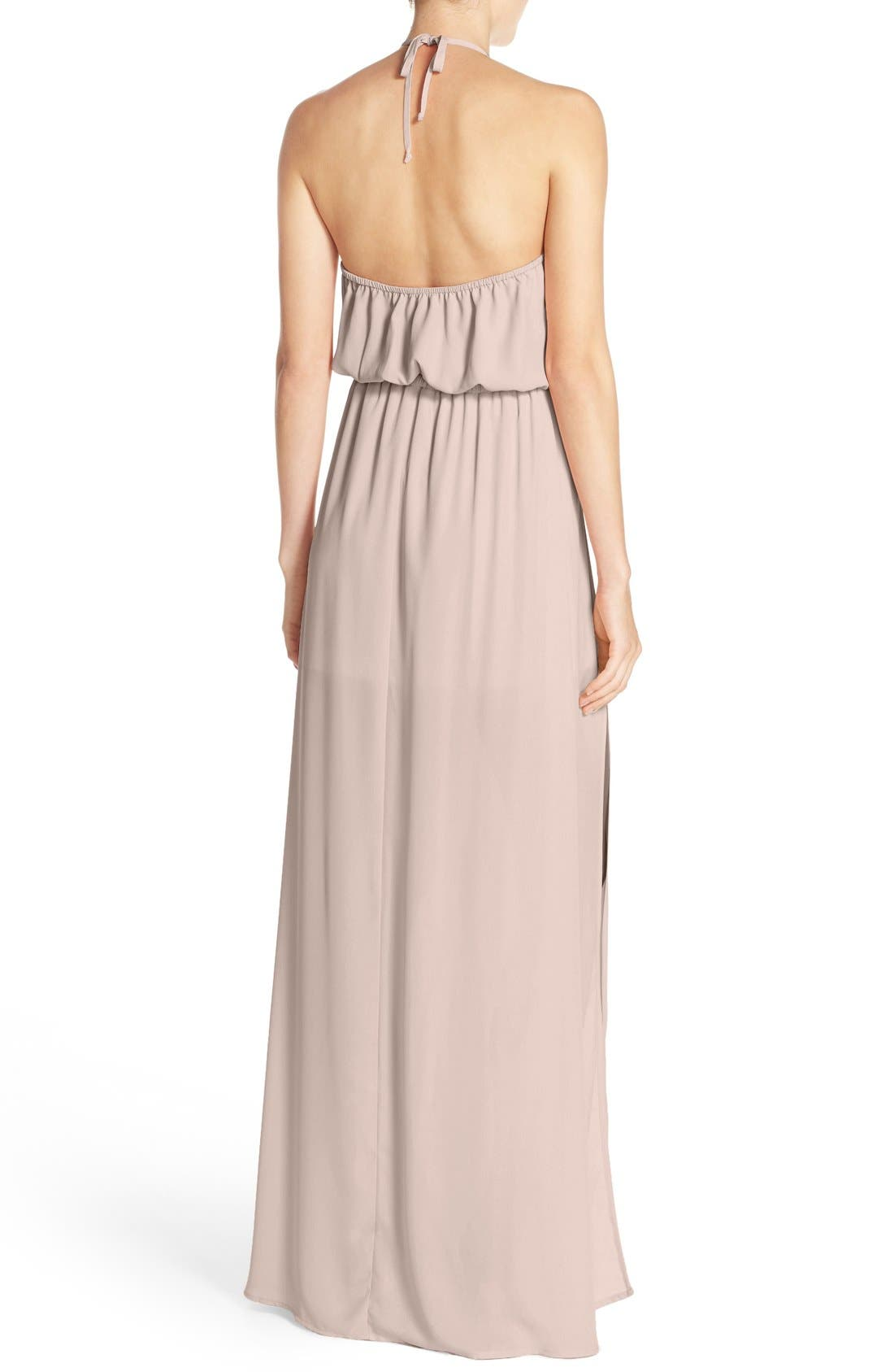 Heather Chiffon Halter Gown,                             Alternate thumbnail 50, color,